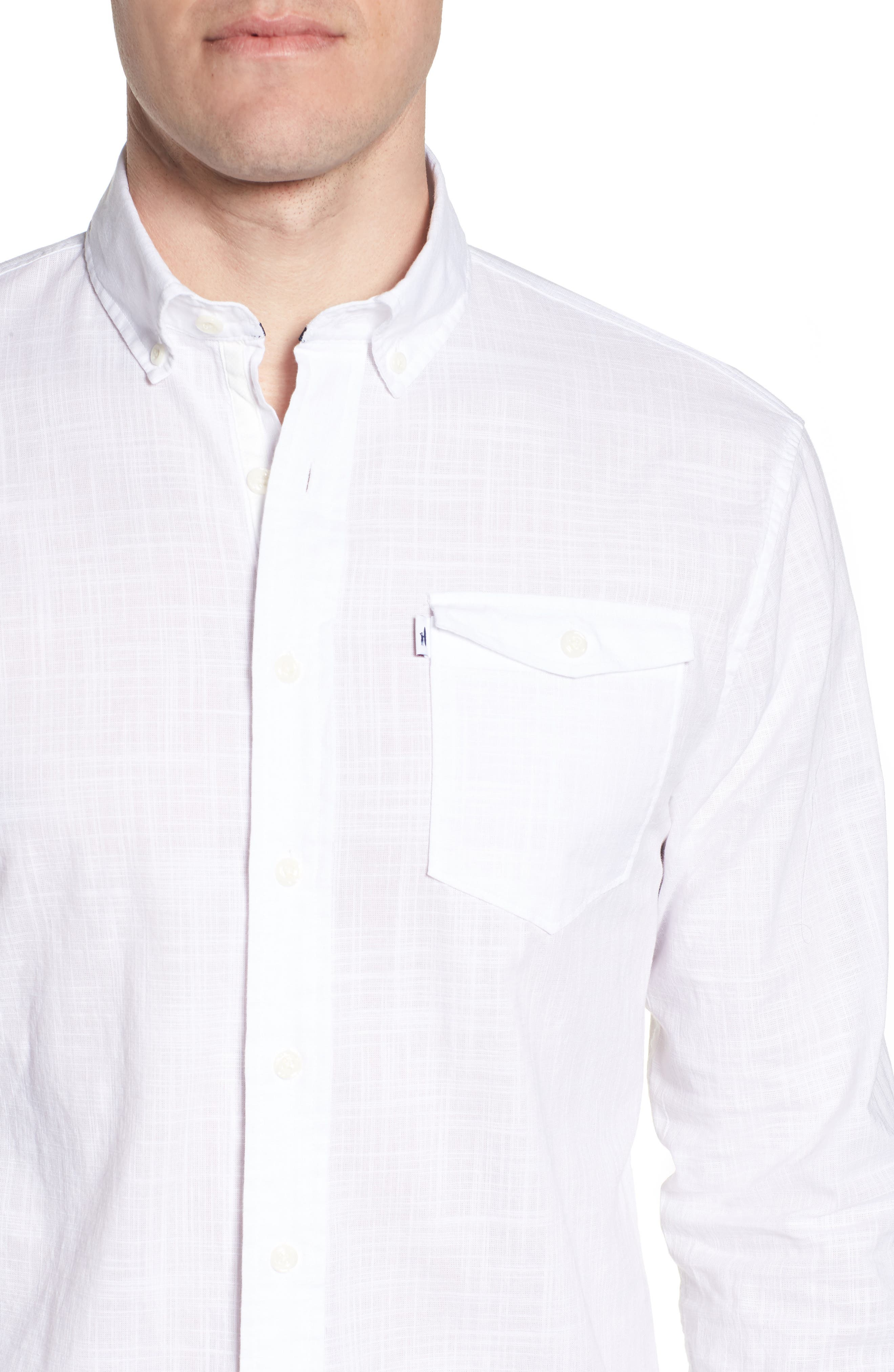Brodie Regular Fit Sport Shirt,                             Alternate thumbnail 2, color,                             White