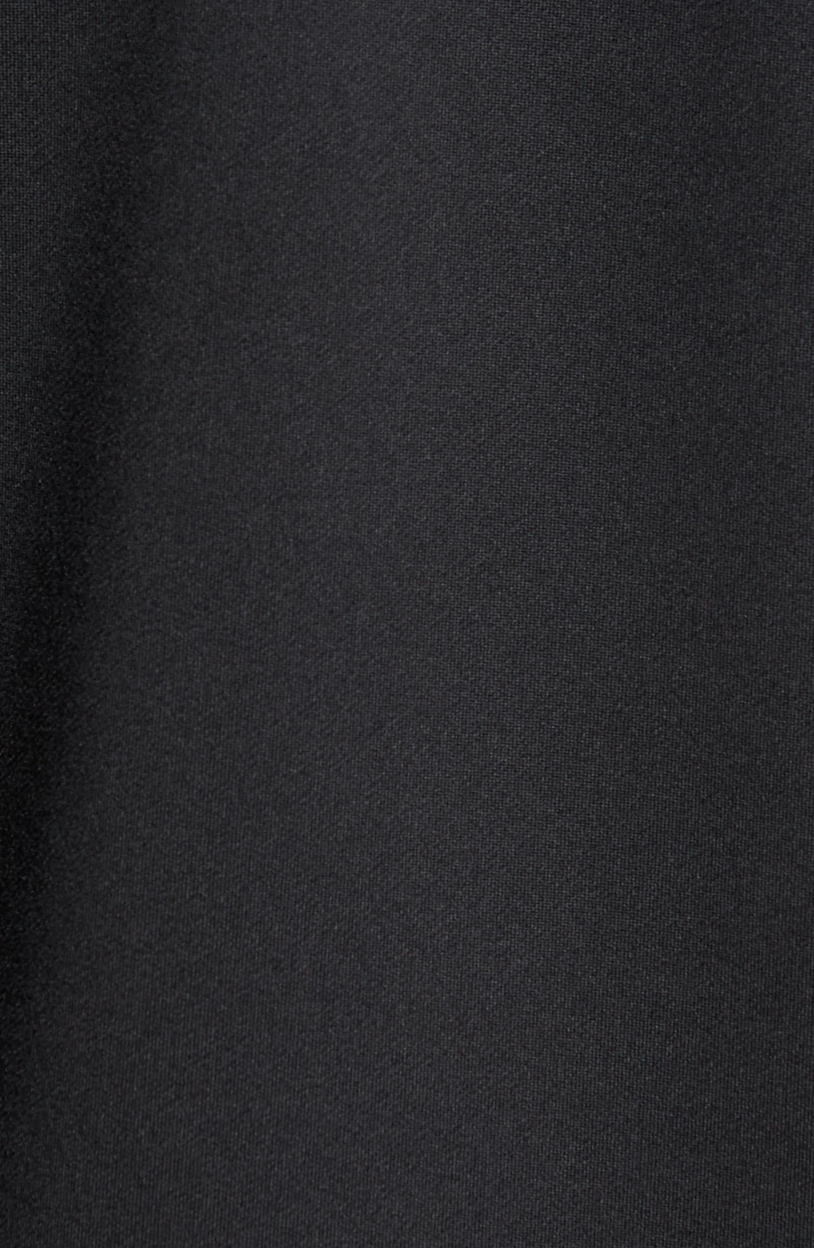 Hybrid Coolmax Crewneck Shirt,                             Alternate thumbnail 5, color,                             Black