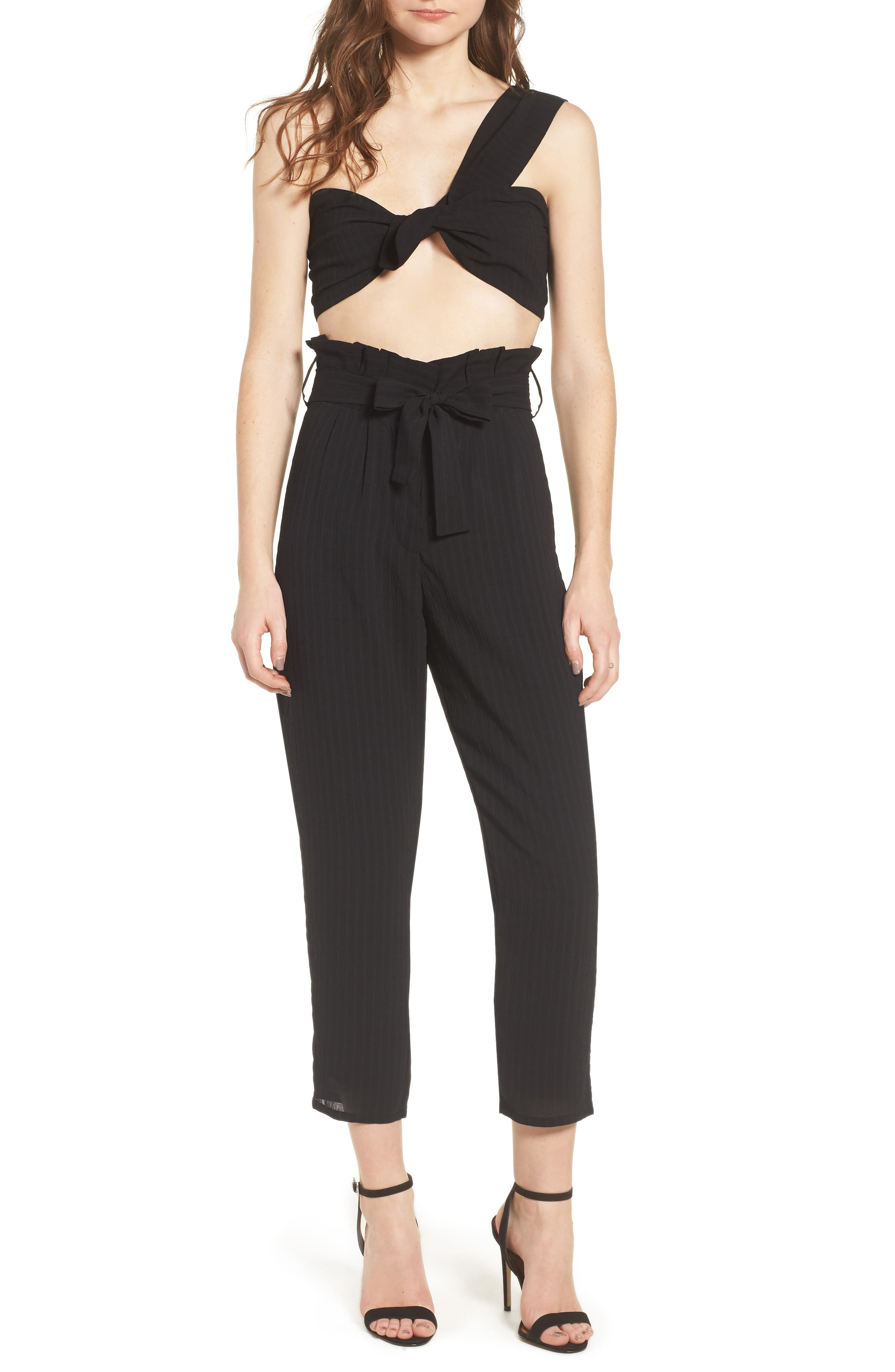 Irving High Waist Crop Pants,                             Alternate thumbnail 2, color,                             Night