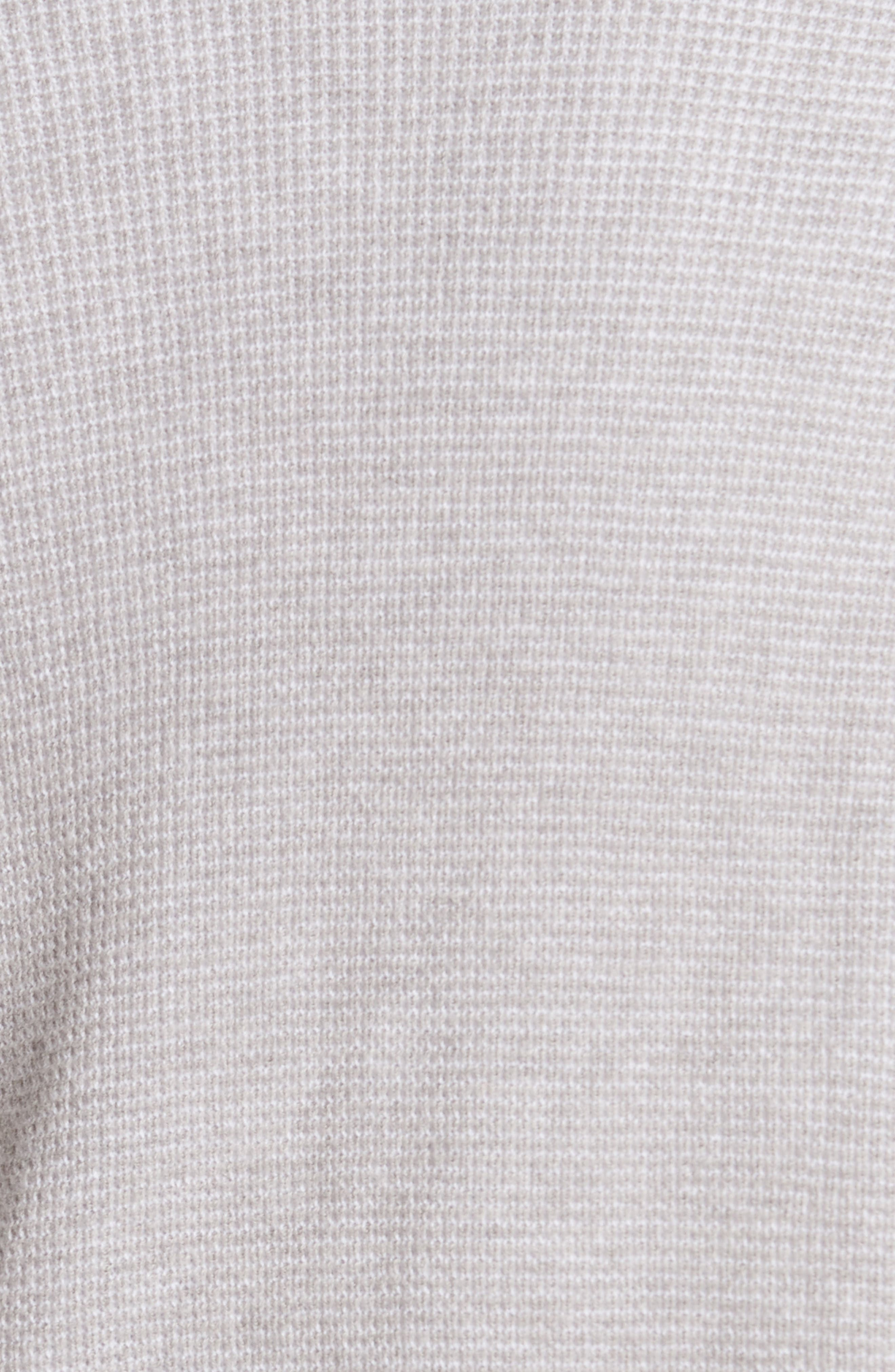 Cotton & Cashmere Waffle Knit Cardigan,                             Alternate thumbnail 5, color,                             Heather Grey