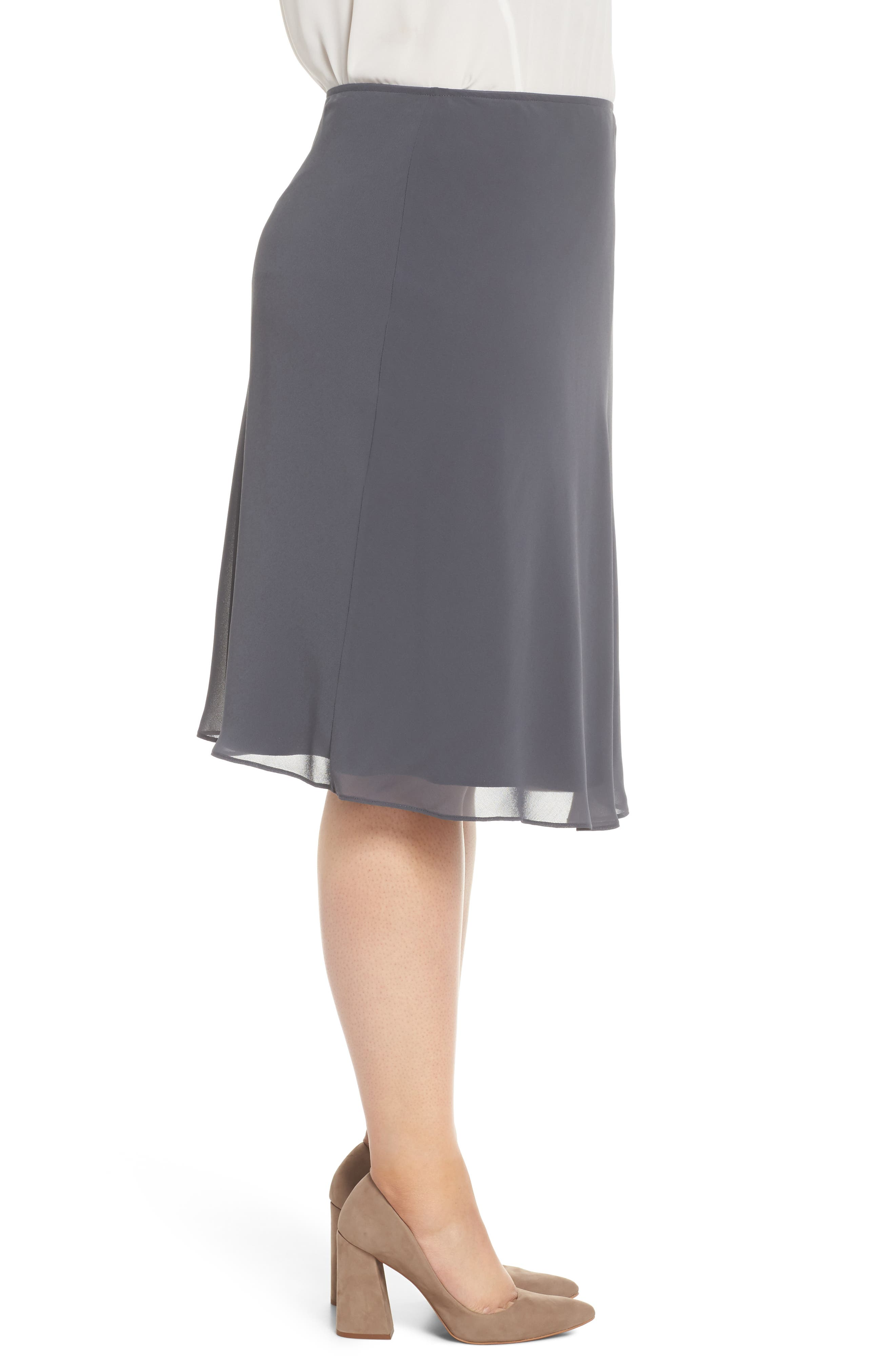 Paired Up Chiffon Skirt,                             Alternate thumbnail 3, color,                             Ink
