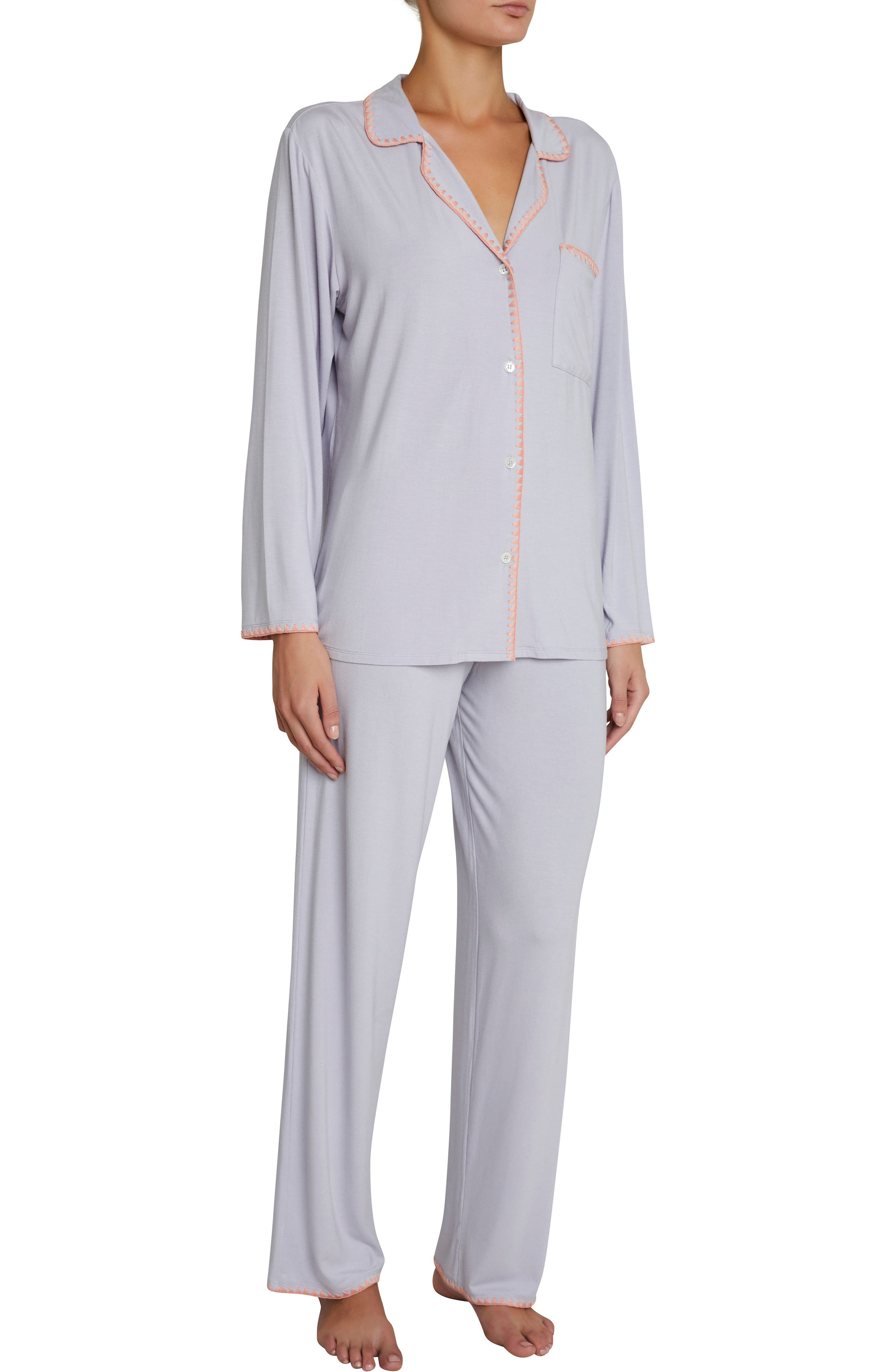 Frida the Whipstitch Pajamas,                         Main,                         color, Washed Orchid/Melocoton