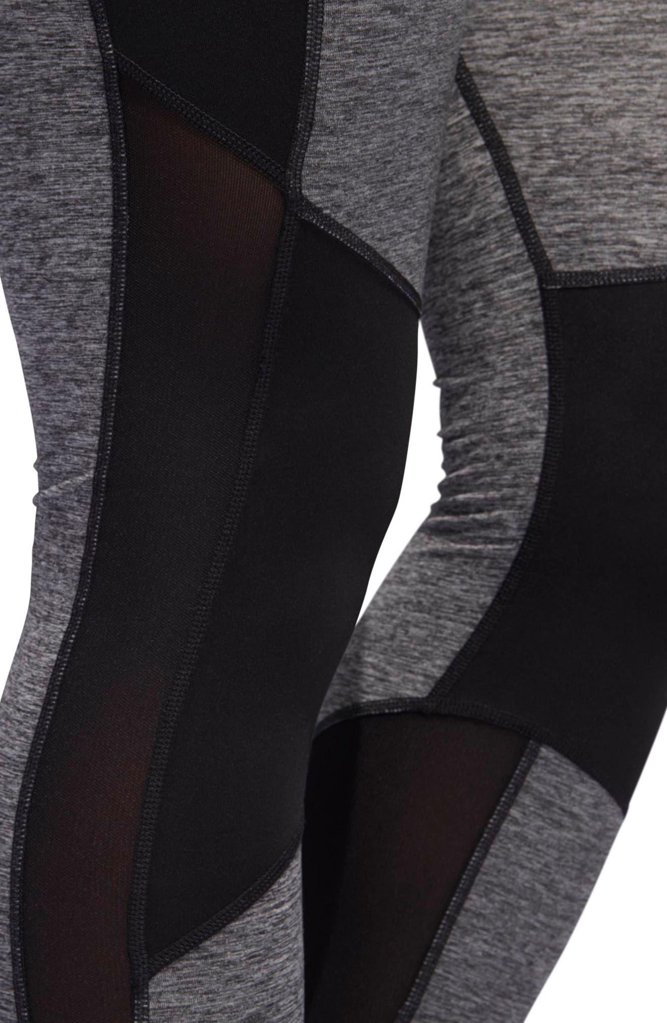 VFA Climalite<sup>®</sup> High Waist Tights,                             Alternate thumbnail 7, color,                             Black