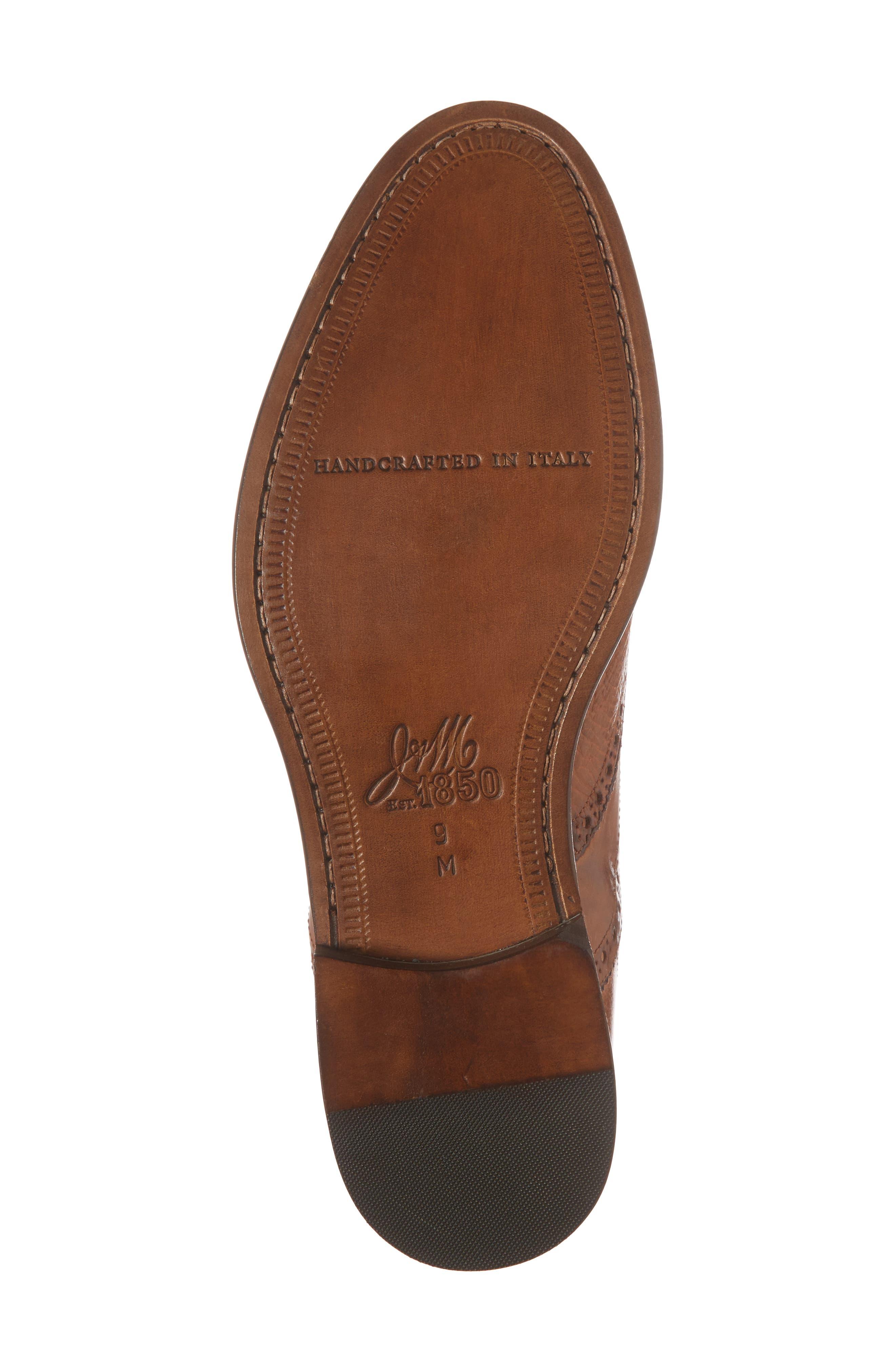 Bryson Wingtip Oxford,                             Alternate thumbnail 6, color,                             Cognac Leather