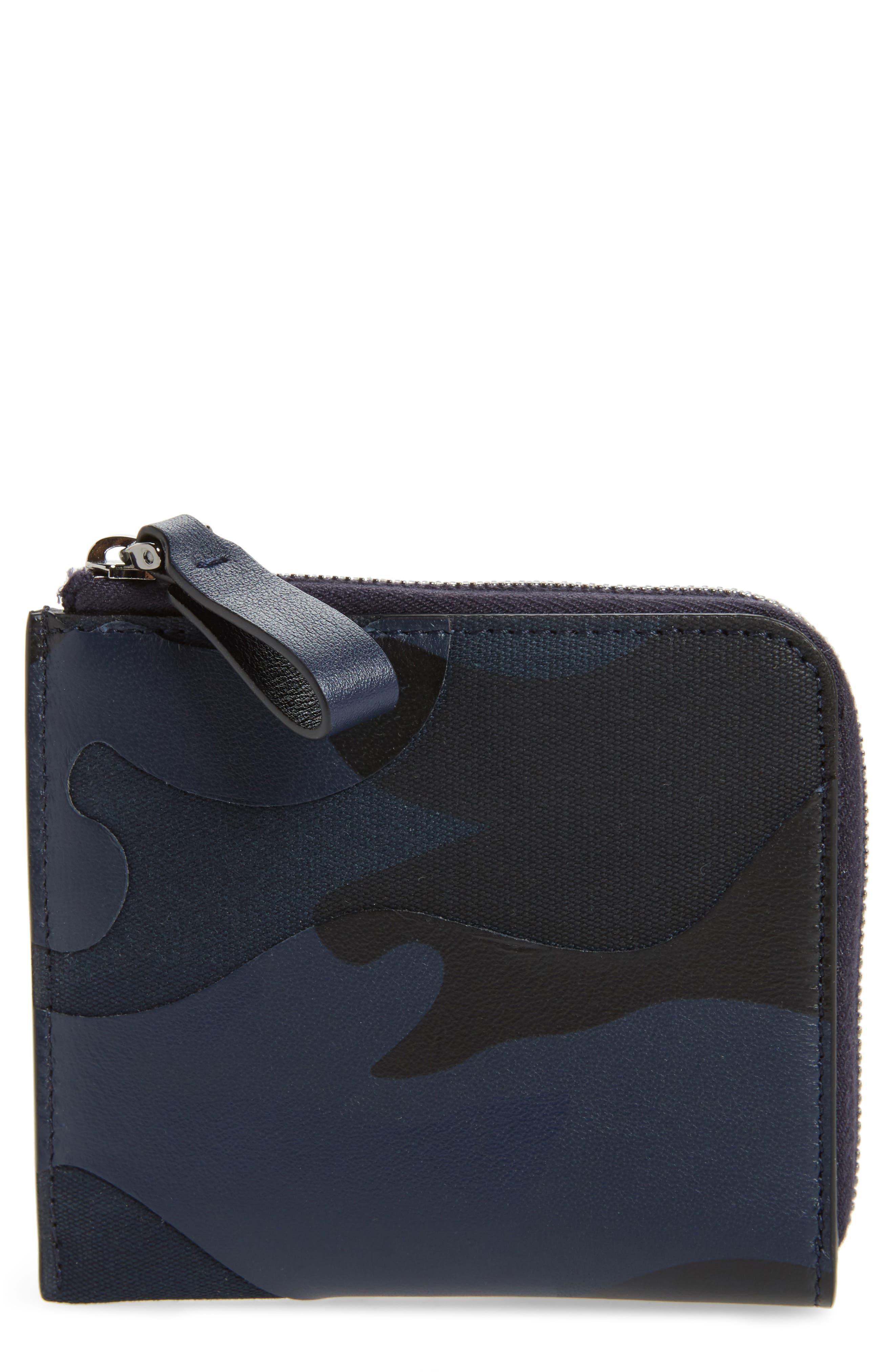 GARAVANI Camo Zip Wallet,                         Main,                         color, Marine