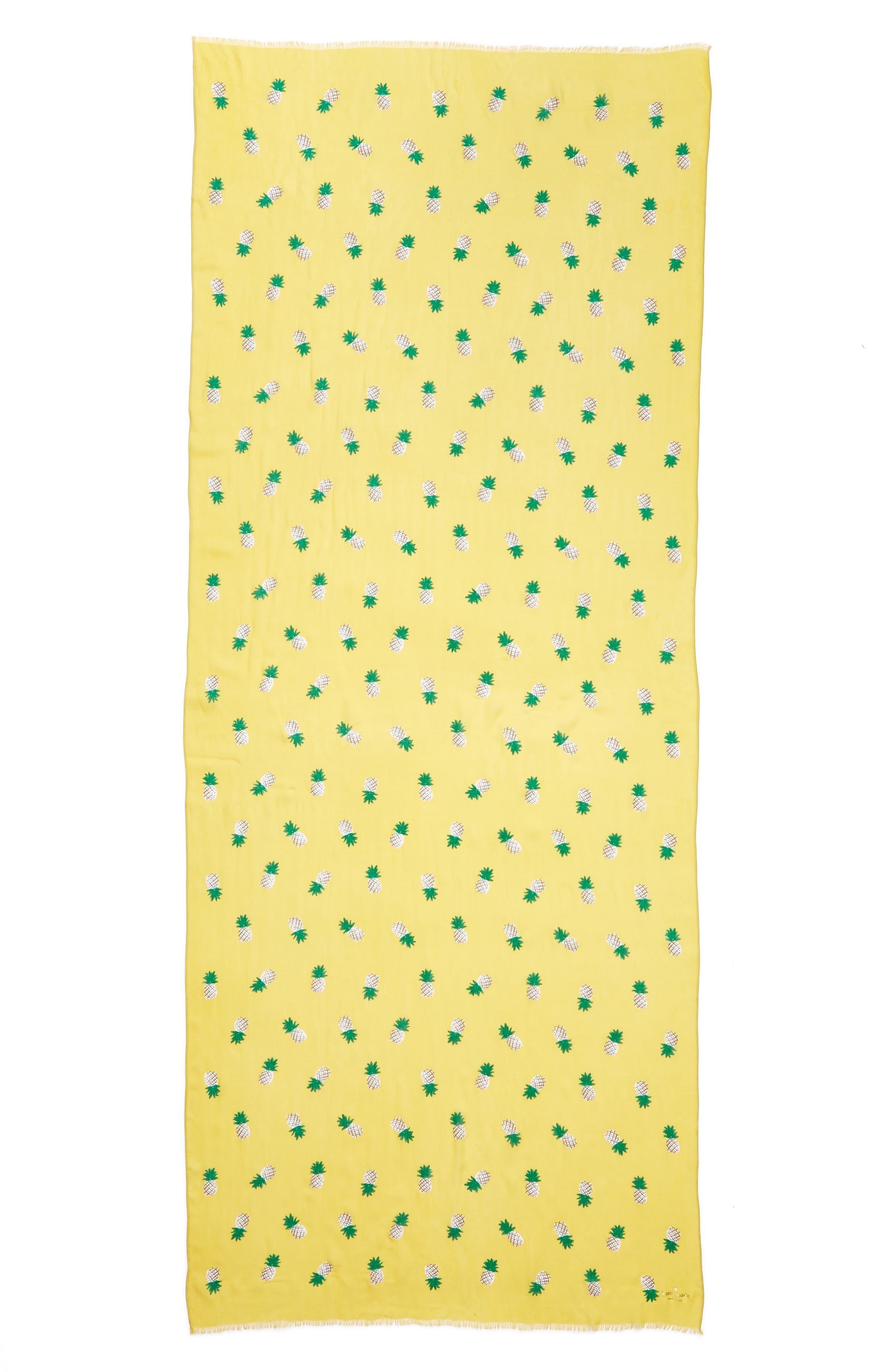 pineapple scarf,                             Alternate thumbnail 3, color,                             Bamboo Shoot