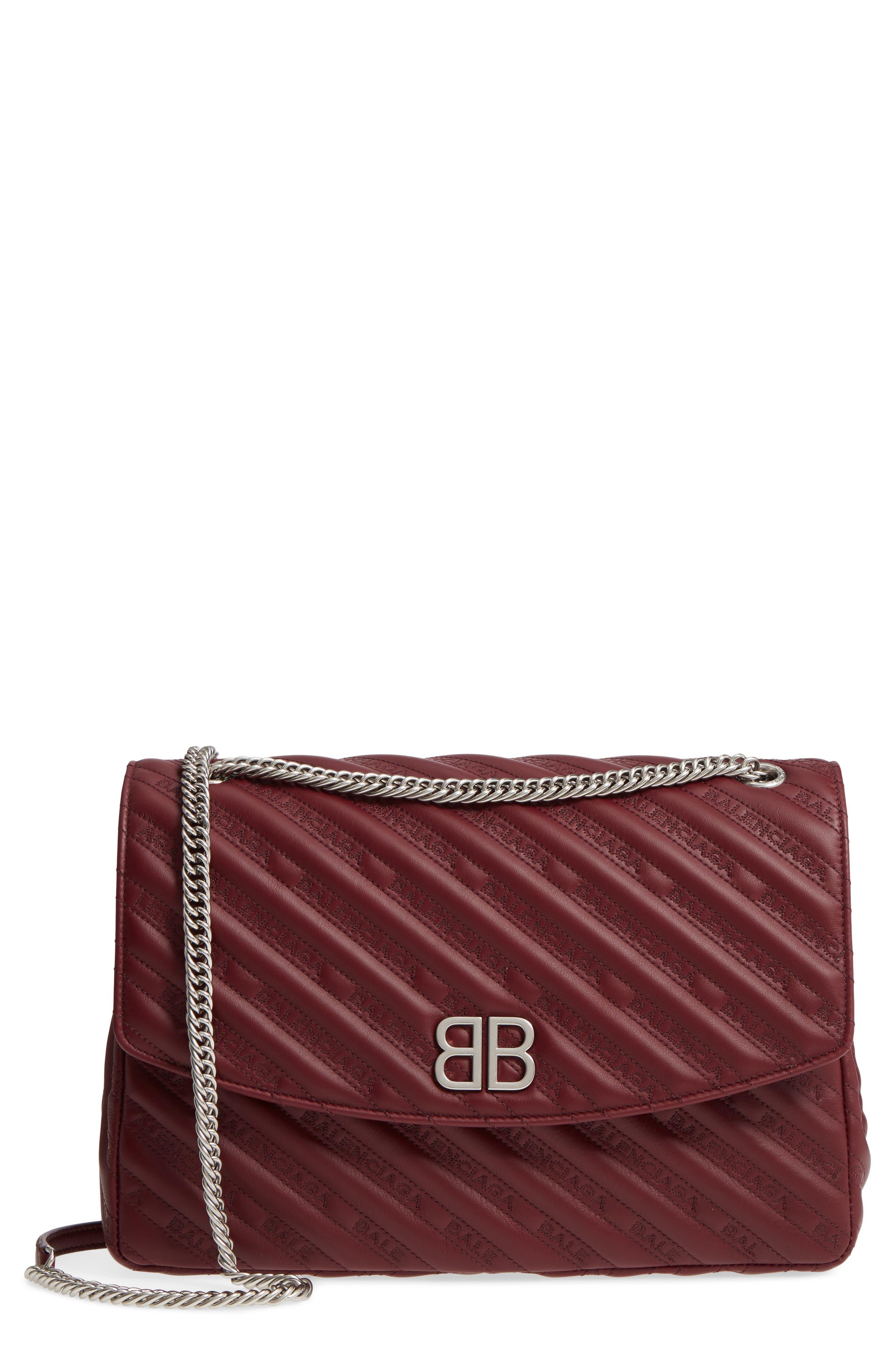 Balenciaga Matelassé Calfskin Leather Shoulder Bag
