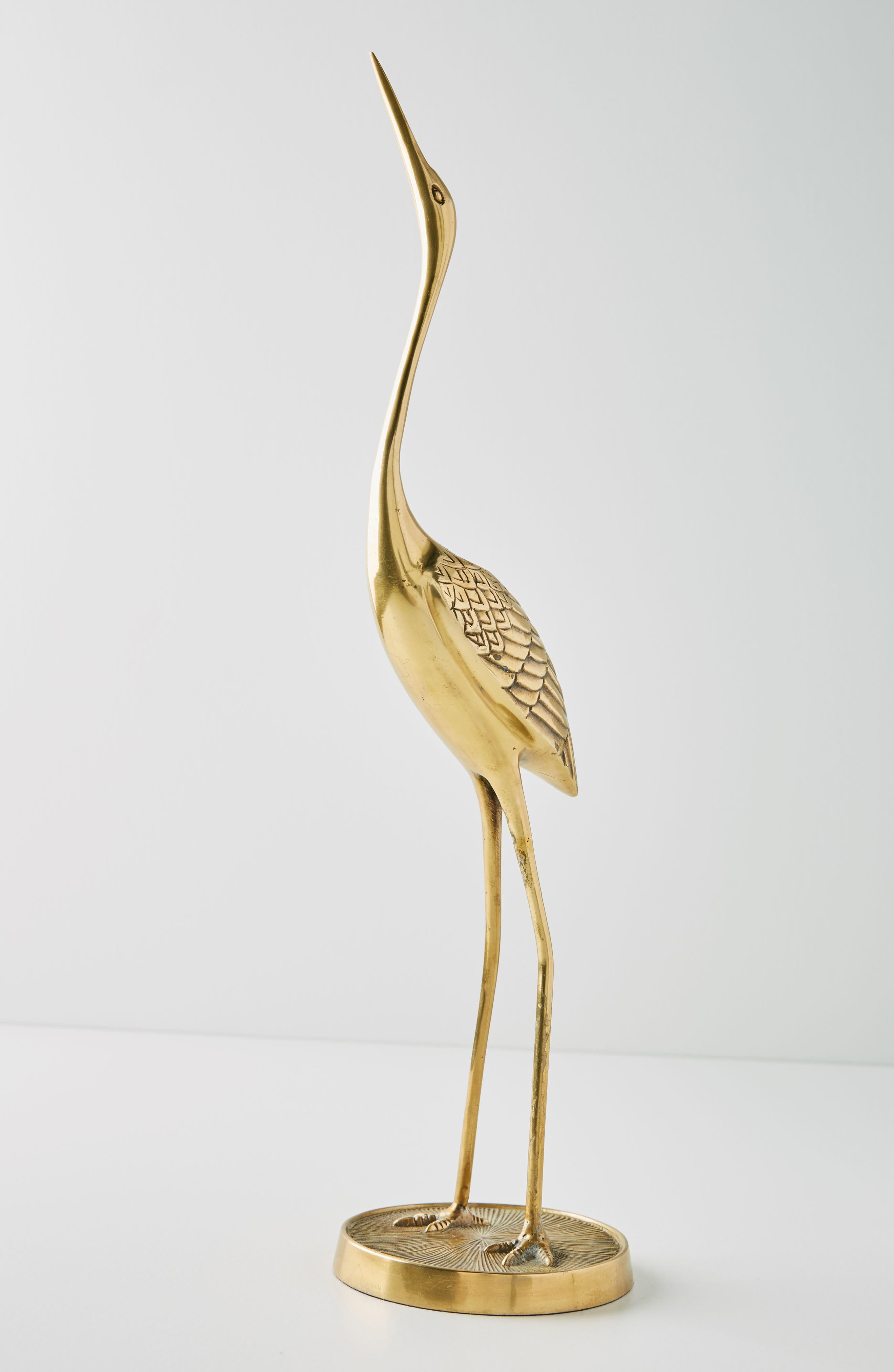 Crane Taper Candleholder,                         Main,                         color, Bronze