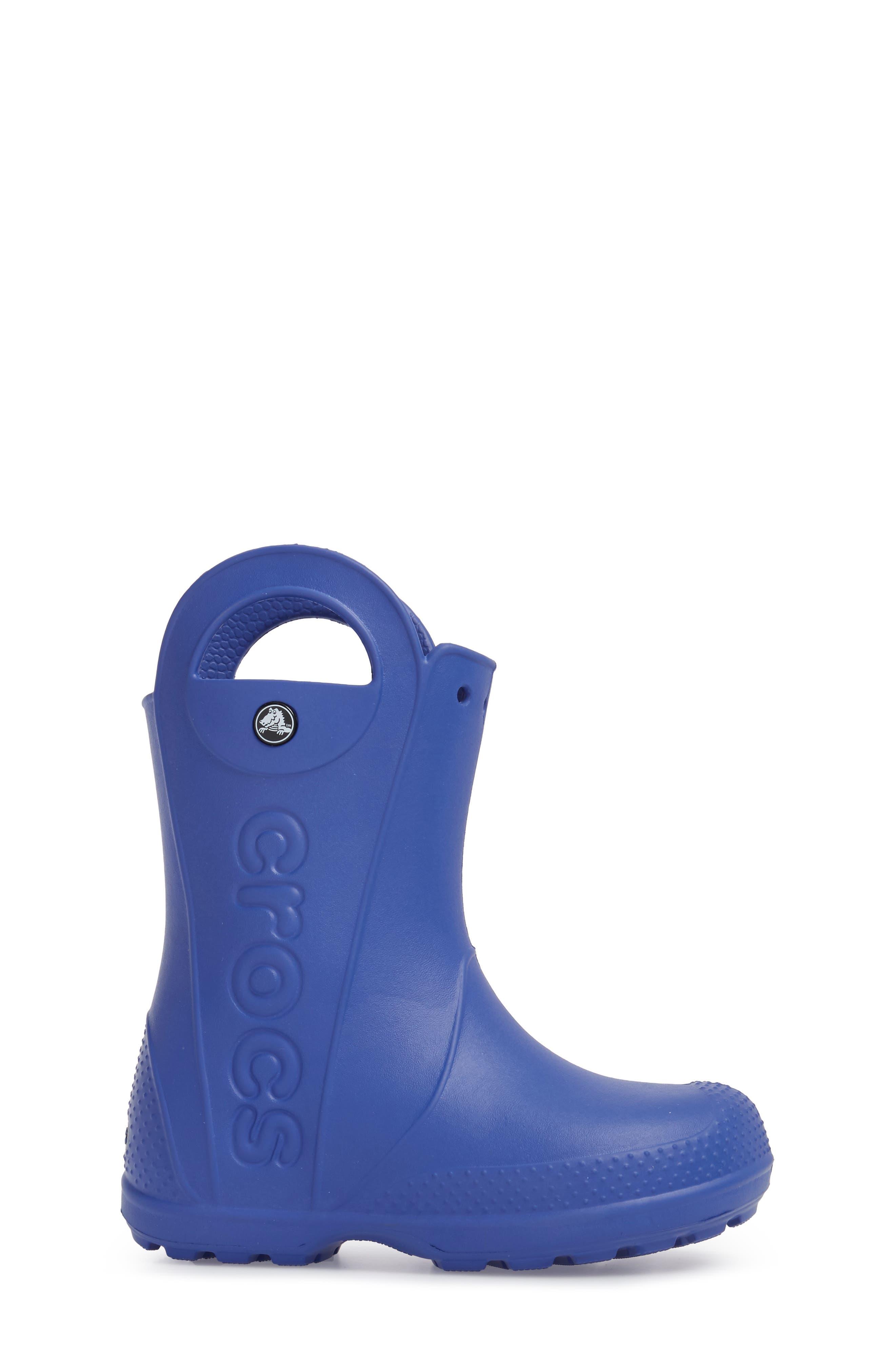 'Handle It' Rain Boot,                             Alternate thumbnail 3, color,                             Cerulean Blue