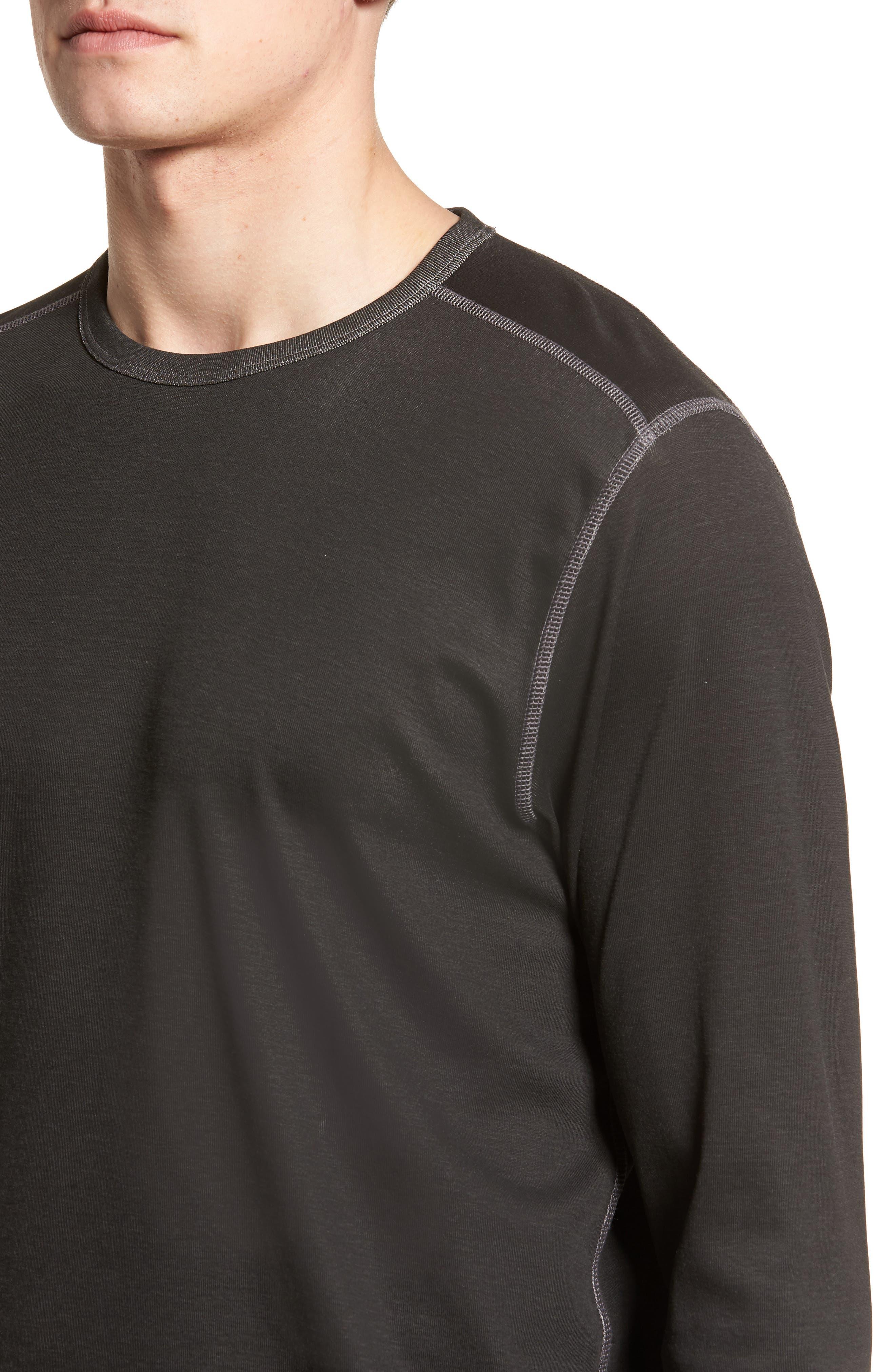 Dual in the Sun Reversible T-Shirt,                             Alternate thumbnail 4, color,                             Black