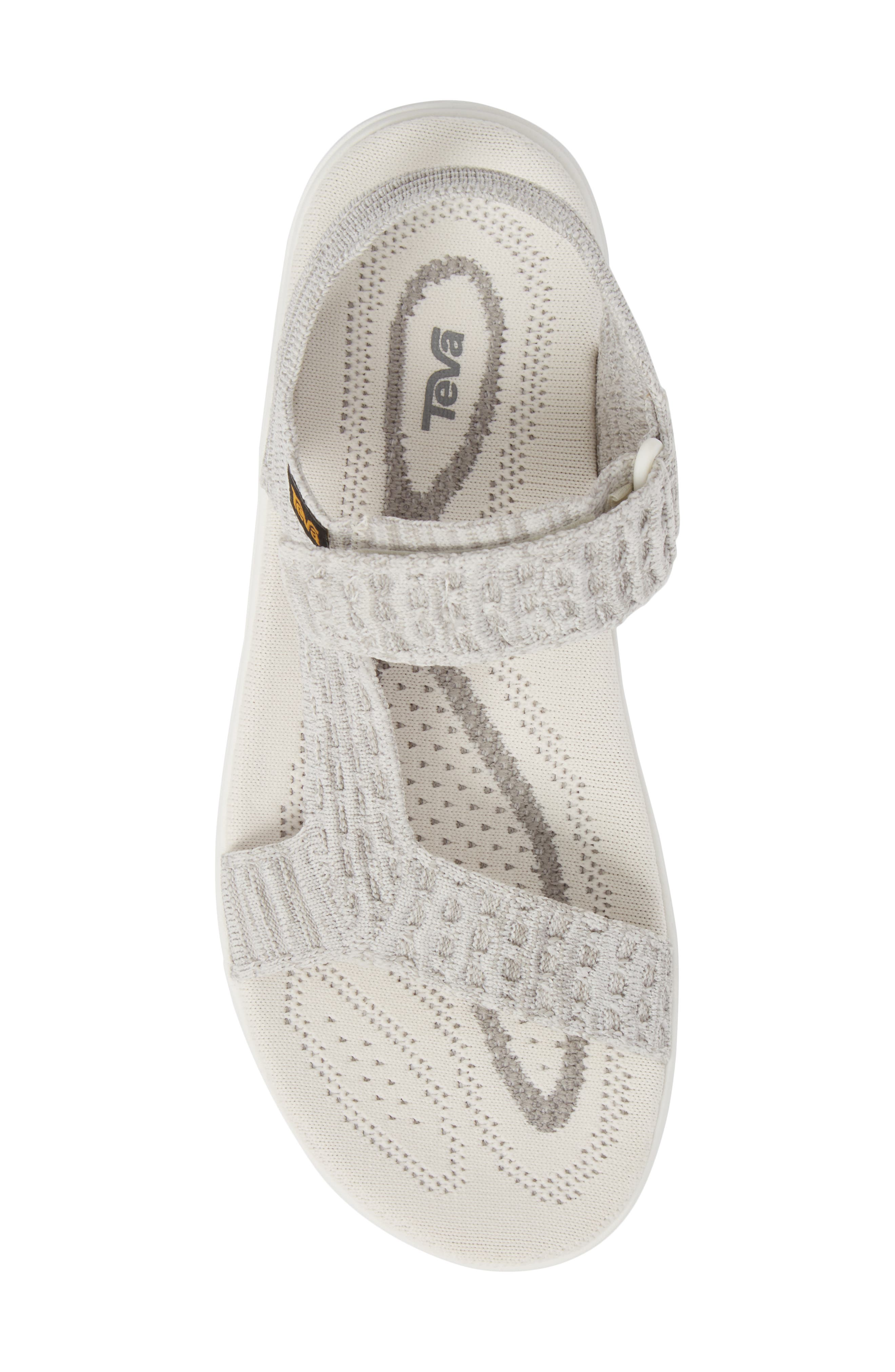 Terra Float 2 Knit Universal Sandal,                             Alternate thumbnail 5, color,                             Bright White Fabric