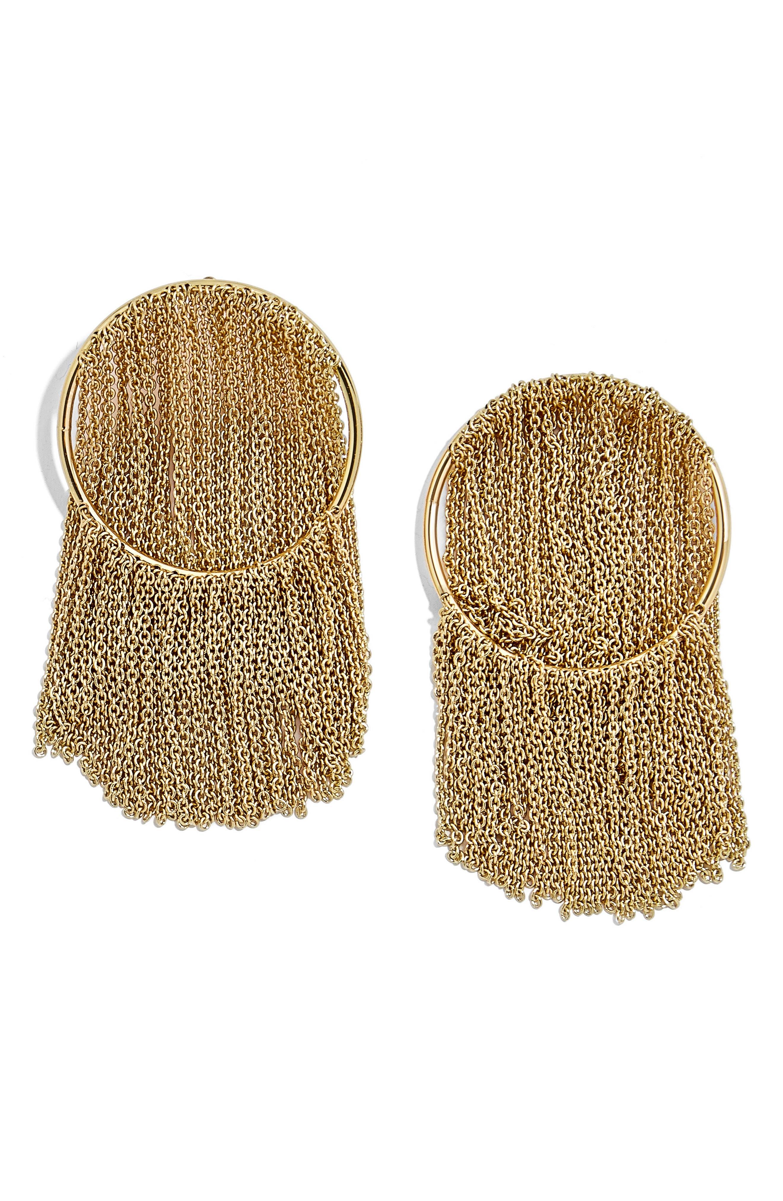Angelita Chain Waterfall Hoop Earrings,                         Main,                         color, Gold