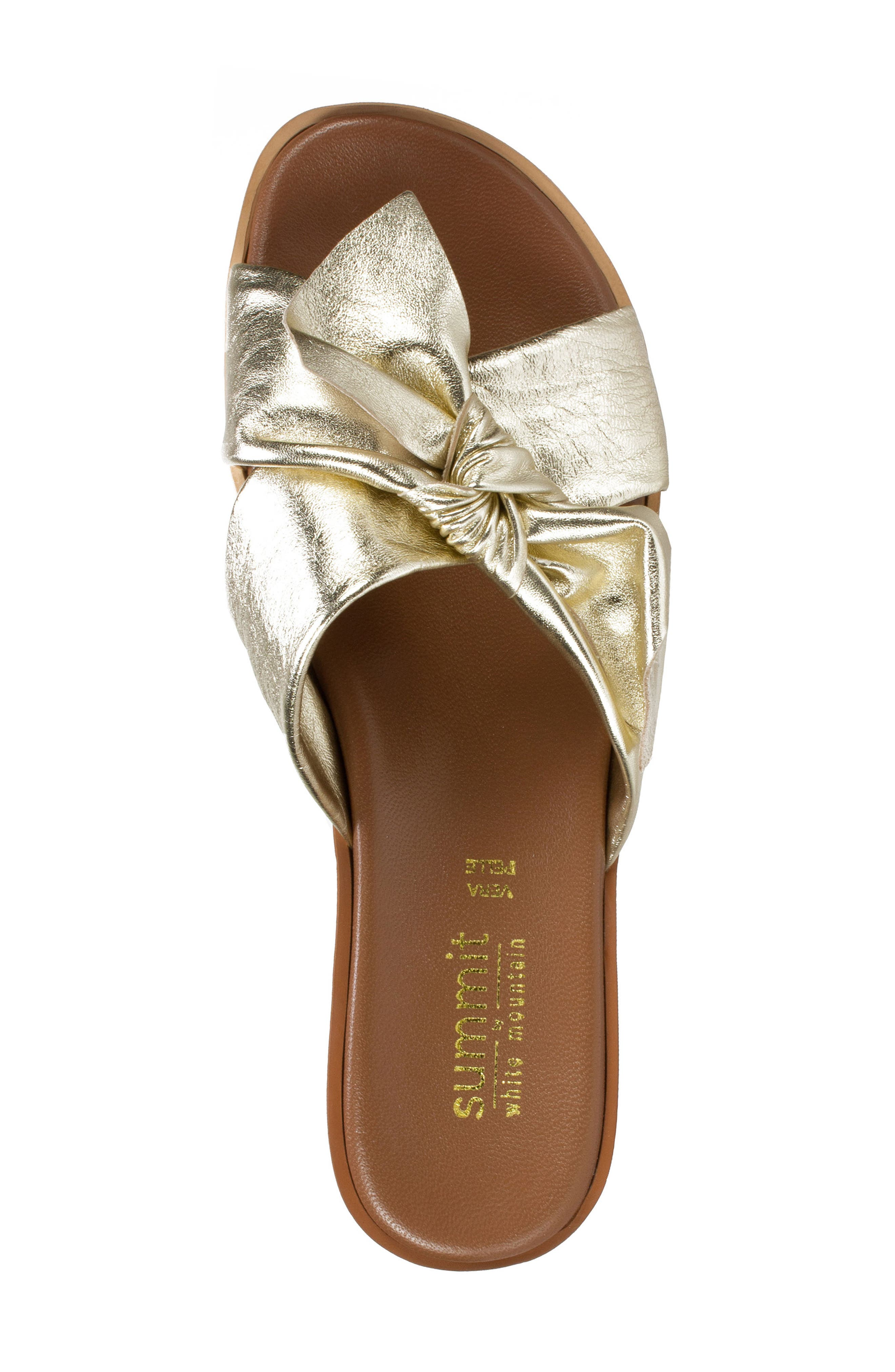 Fynn Slide Sandal,                             Alternate thumbnail 5, color,                             Platinum Leather