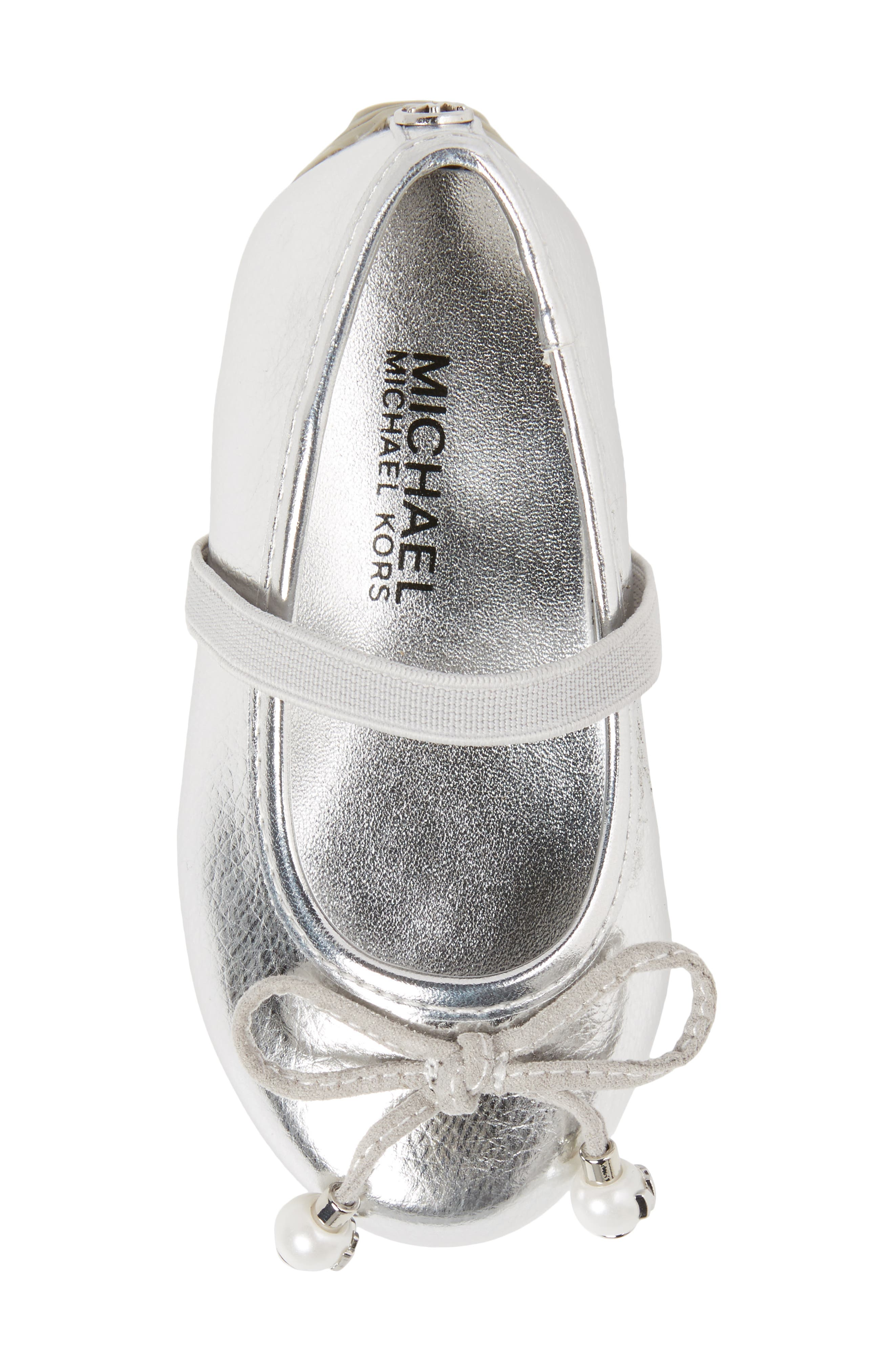 Rover Ting Ballet Flat,                             Alternate thumbnail 5, color,                             Silver