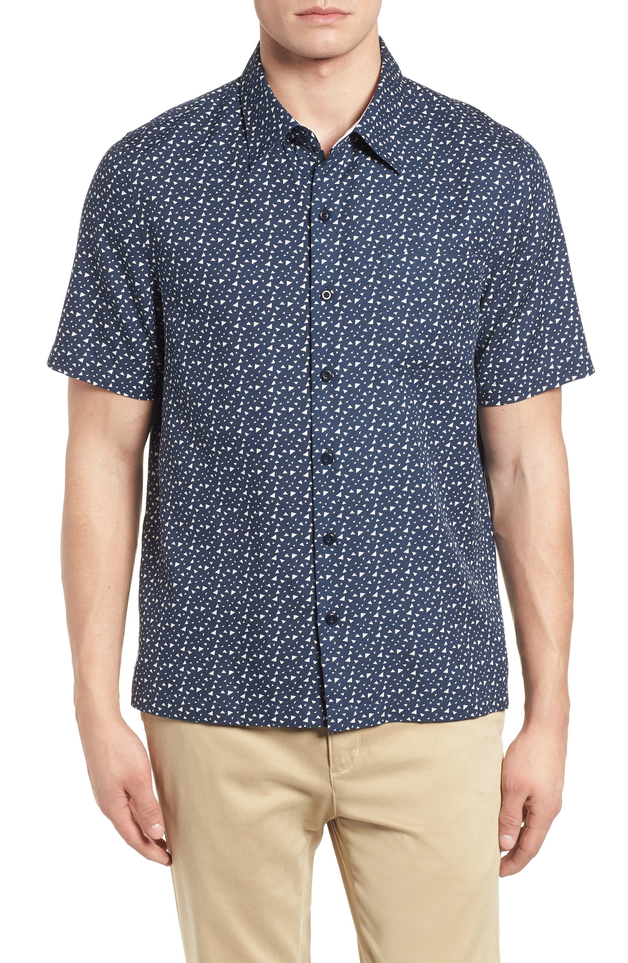Bermuda Triangle Camp Shirt,                             Main thumbnail 1, color,                             Nat Blue