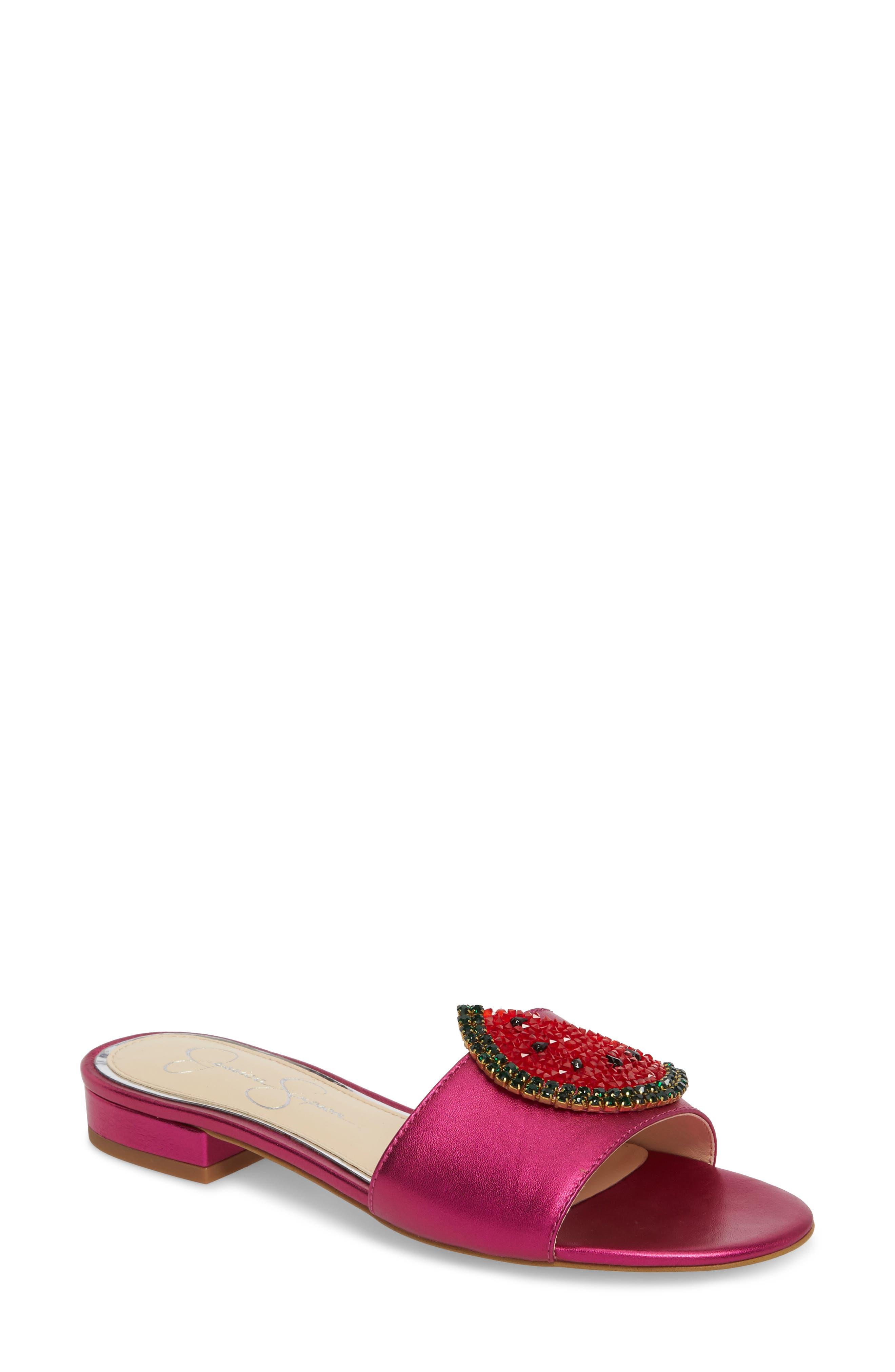 Jessica Simpson Crizma Embellished Slide Sandal (Women)