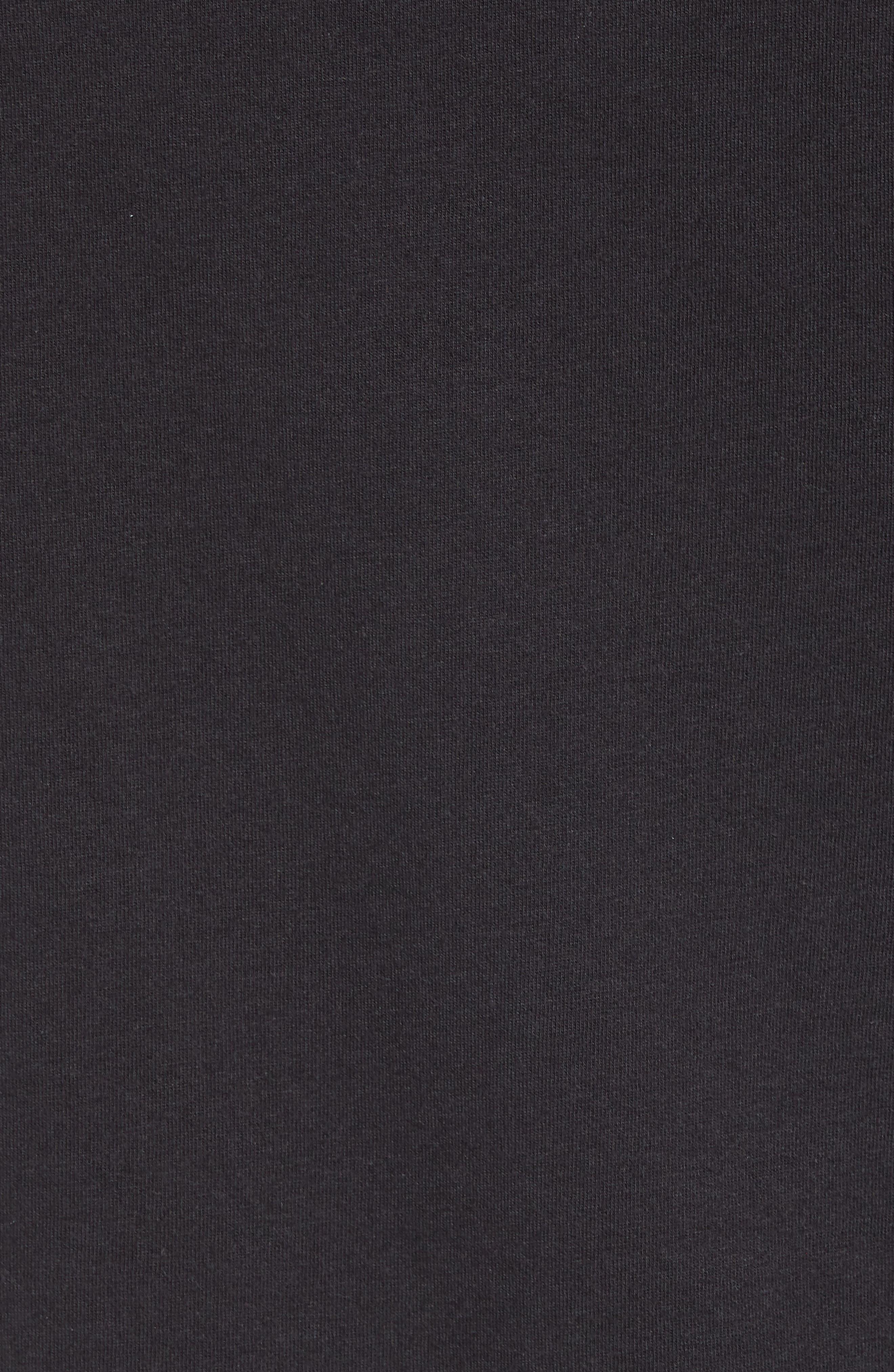 Cotton Blend Hoodie,                             Alternate thumbnail 5, color,                             Black
