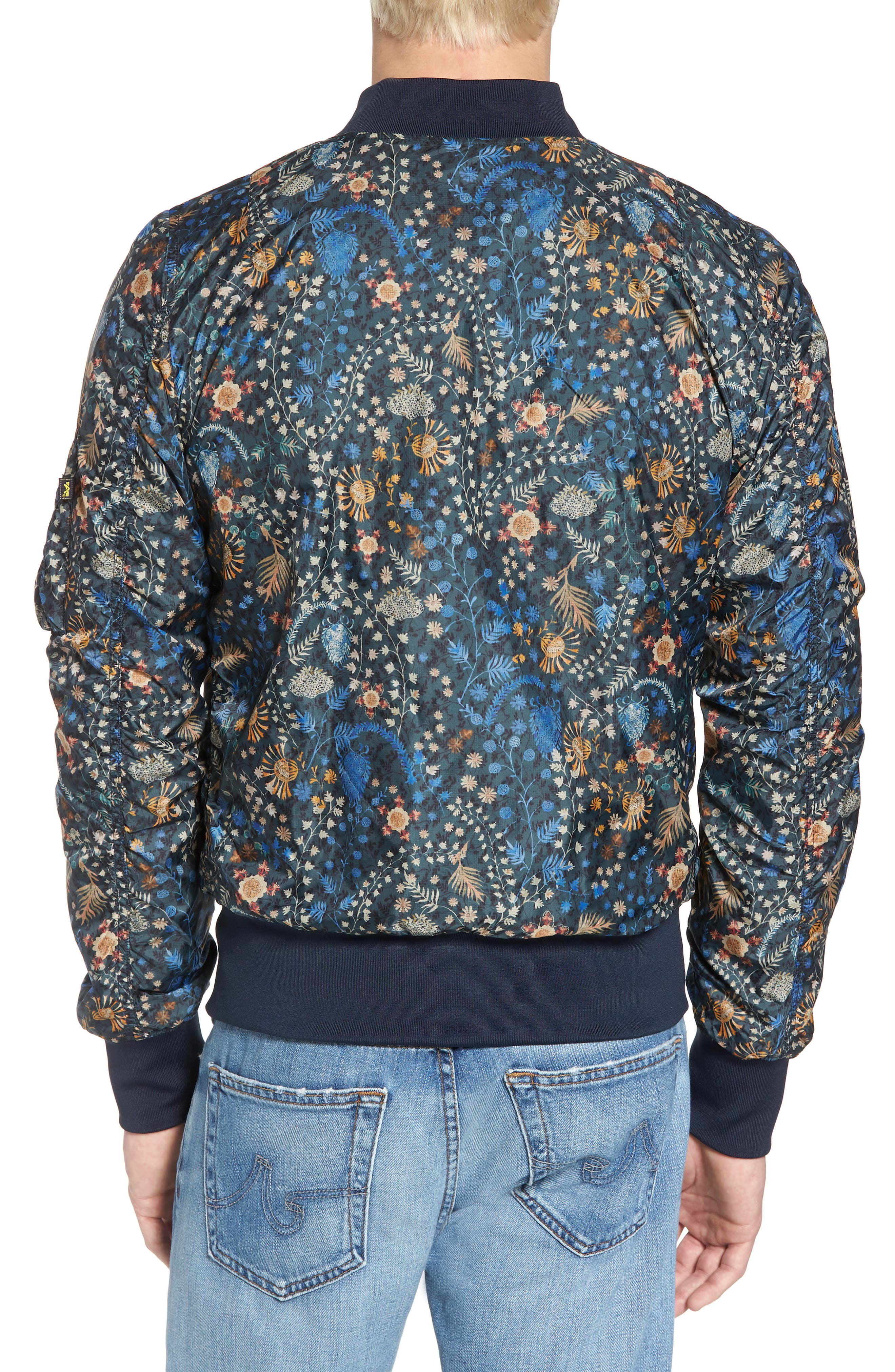 Liberty X L-2B Scout Bomber Jacket,                             Alternate thumbnail 2, color,                             Croquette Meadow