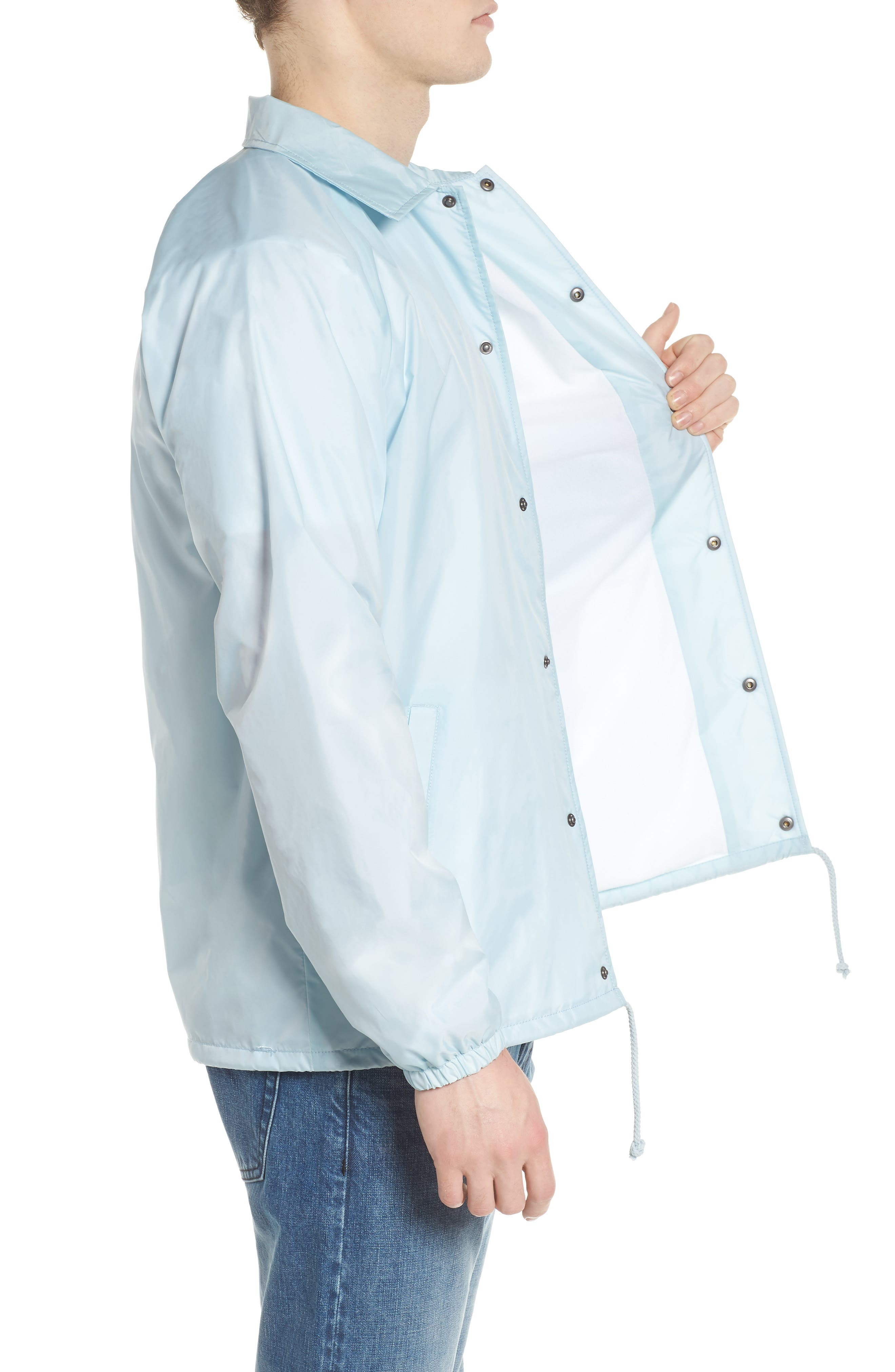 Torrey Water Resistant Jacket,                             Alternate thumbnail 3, color,                             Baby Blue