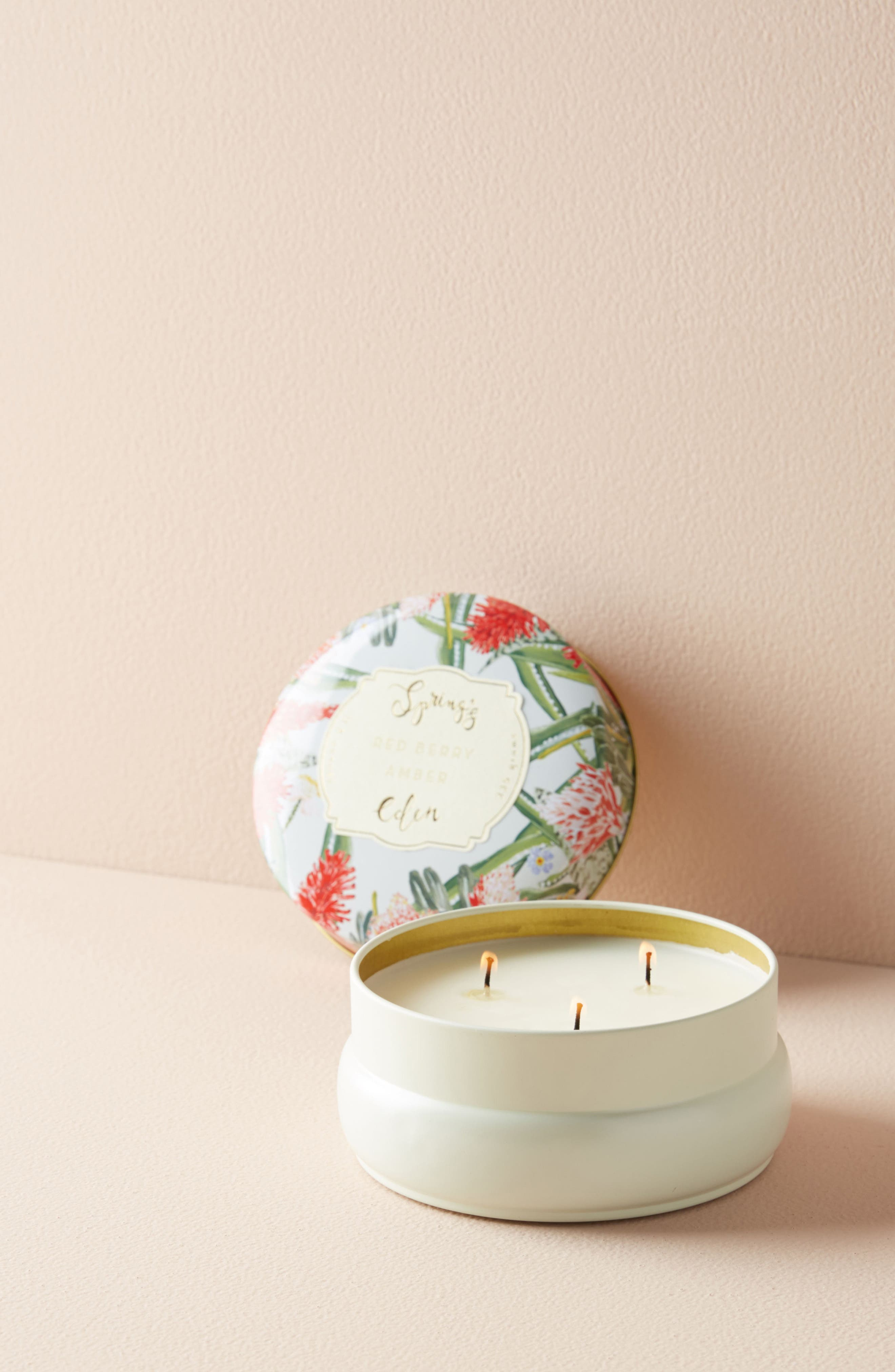 Anthropologie Spring's Eden Candle Tin