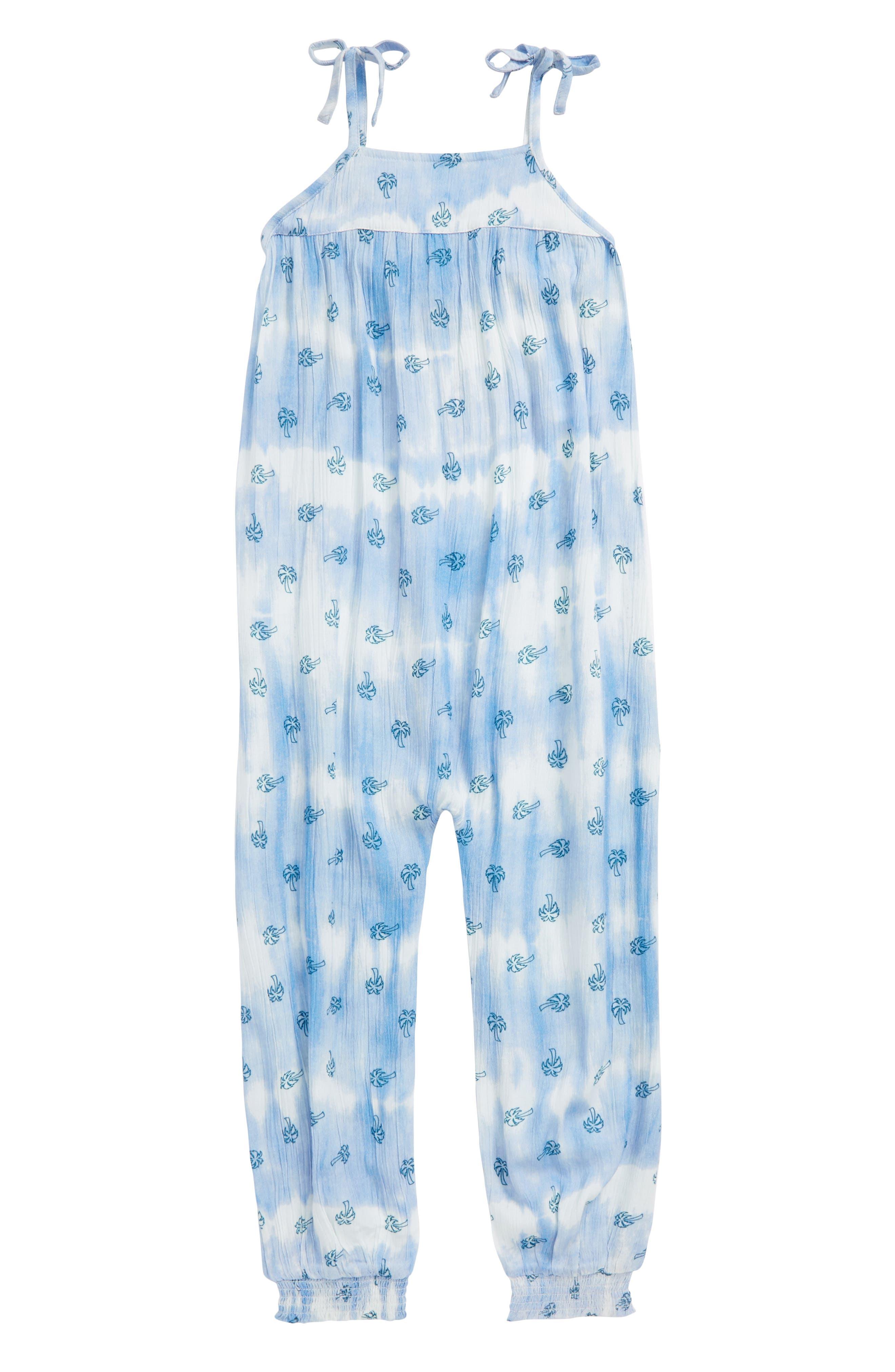 Daydream Tie Dye Print Jumpsuit,                             Main thumbnail 1, color,                             White