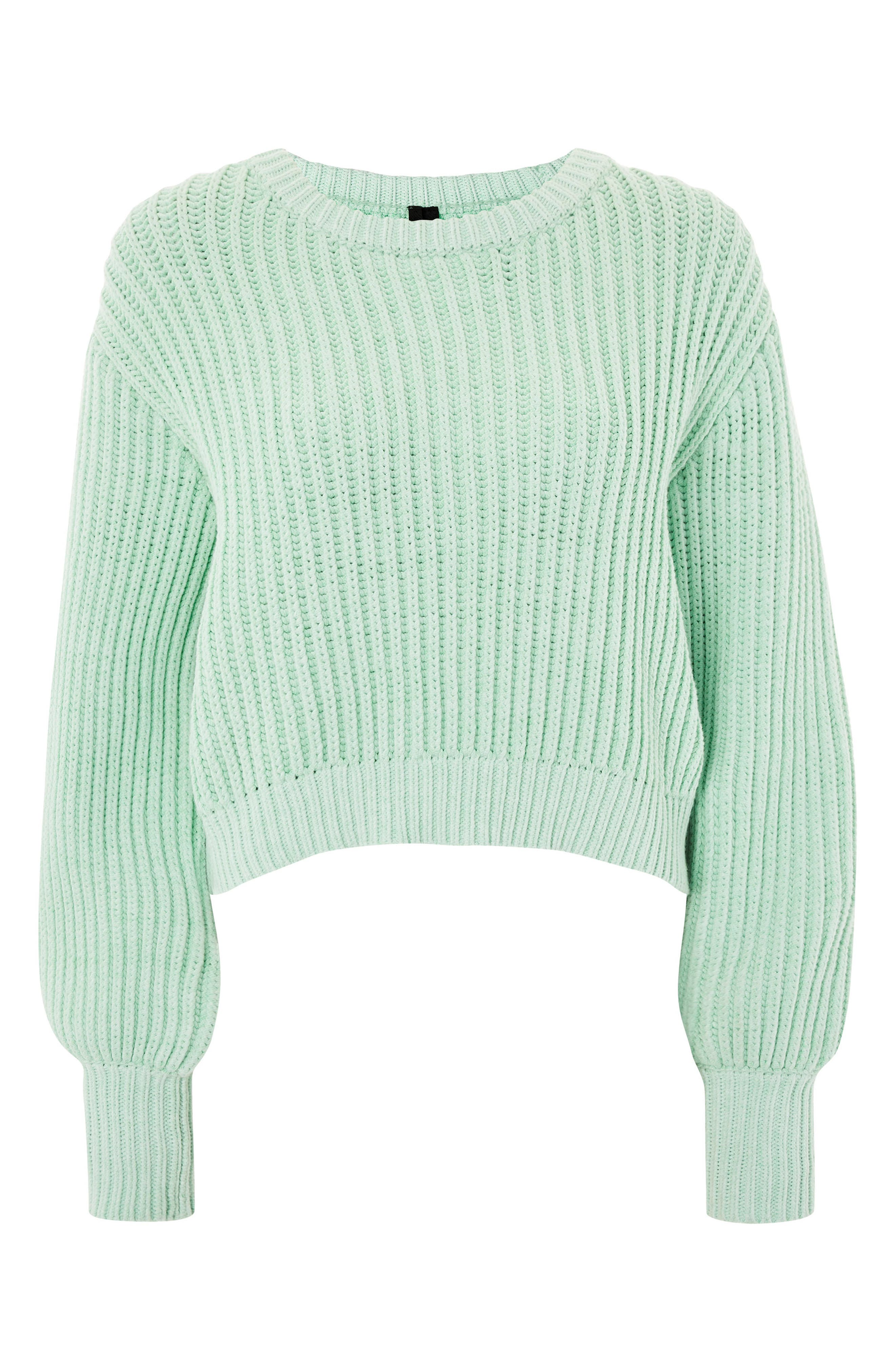 Fisherman Crewneck Sweater,                             Main thumbnail 1, color,                             Light Green