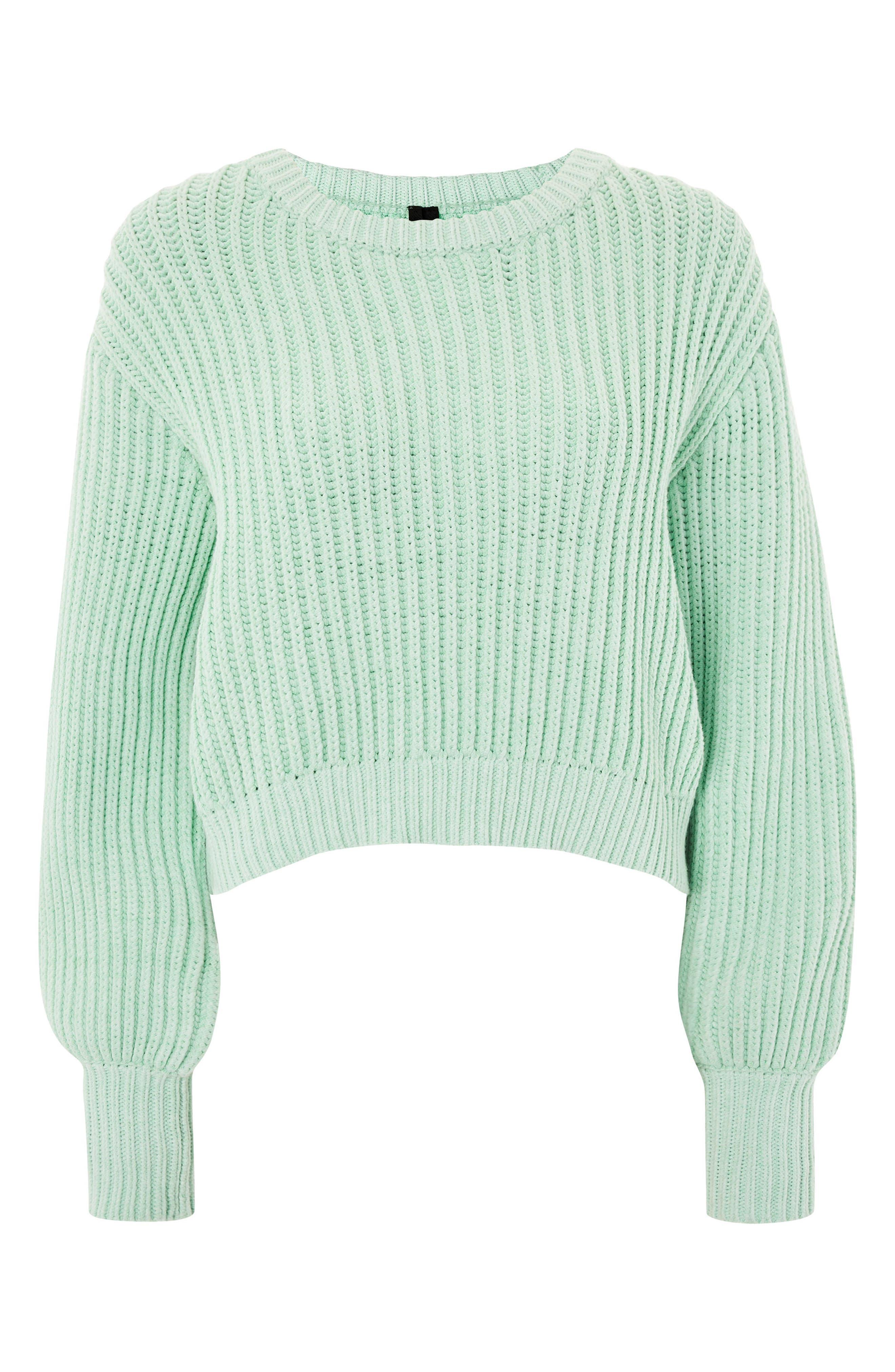 Fisherman Crewneck Sweater,                         Main,                         color, Light Green