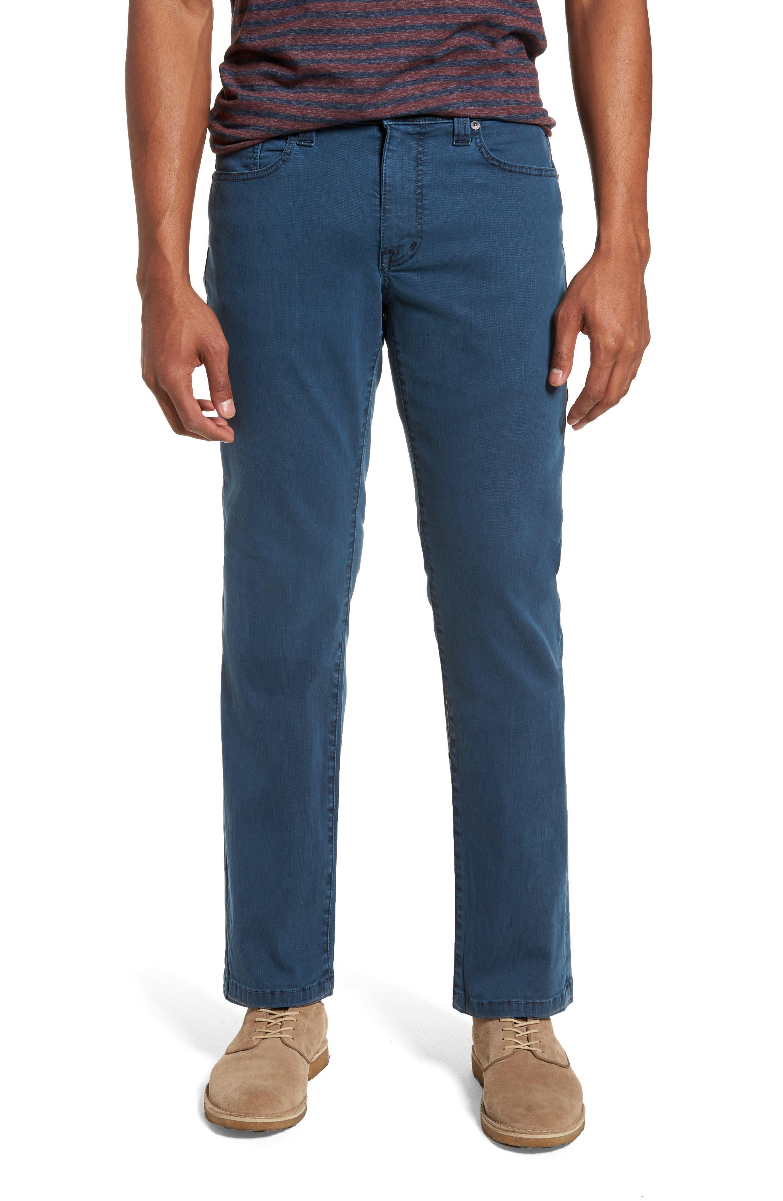 Fidelity Denim Jimmy Slim Straight Leg Jeans (Marina Blue)