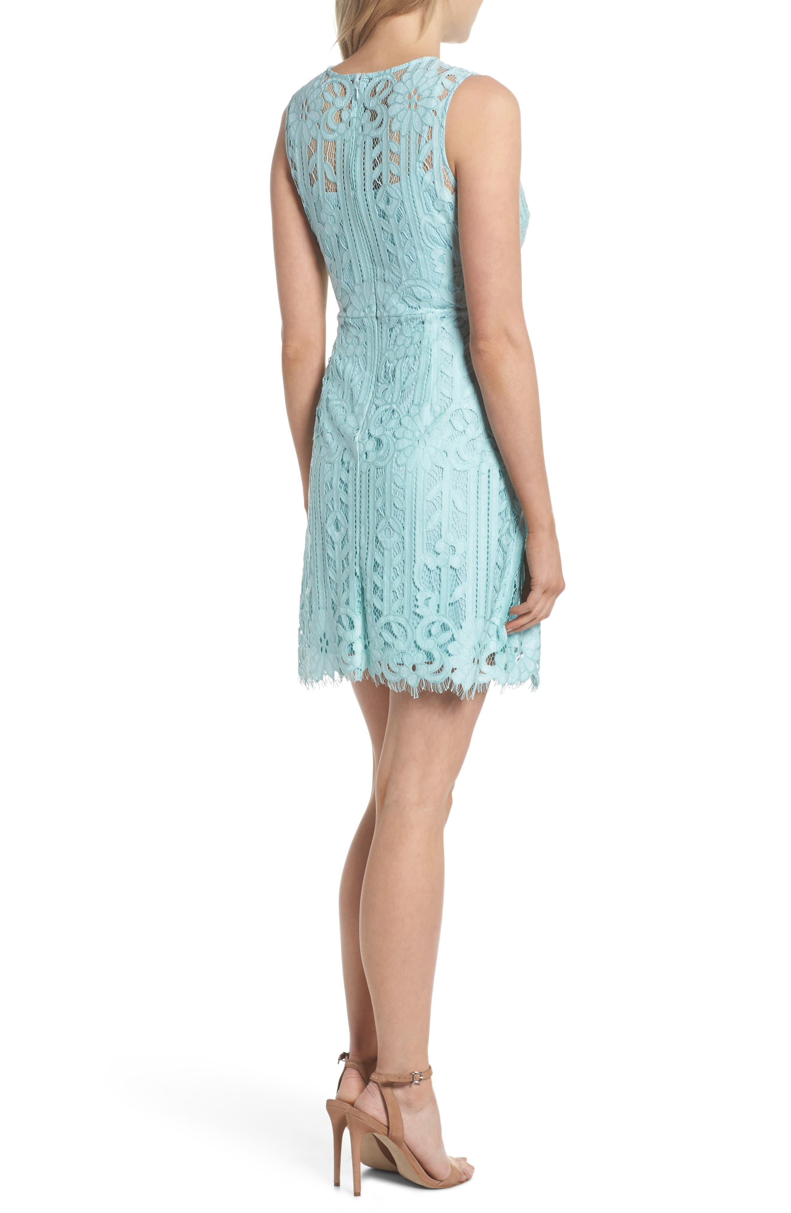 Sleeveless Lace Dress,                             Alternate thumbnail 2, color,                             Mint