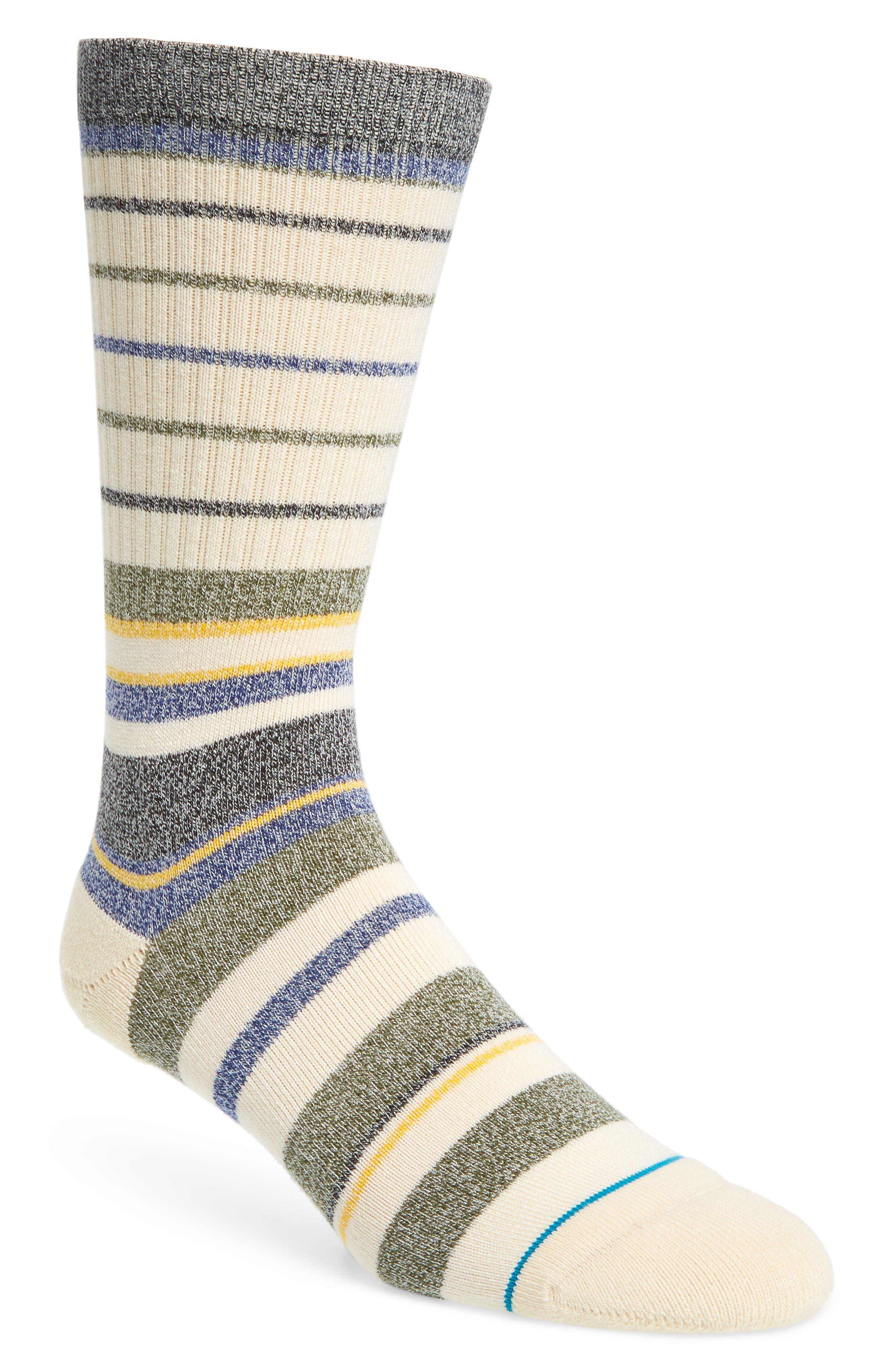 Castro Crew Socks,                             Main thumbnail 1, color,                             Natural