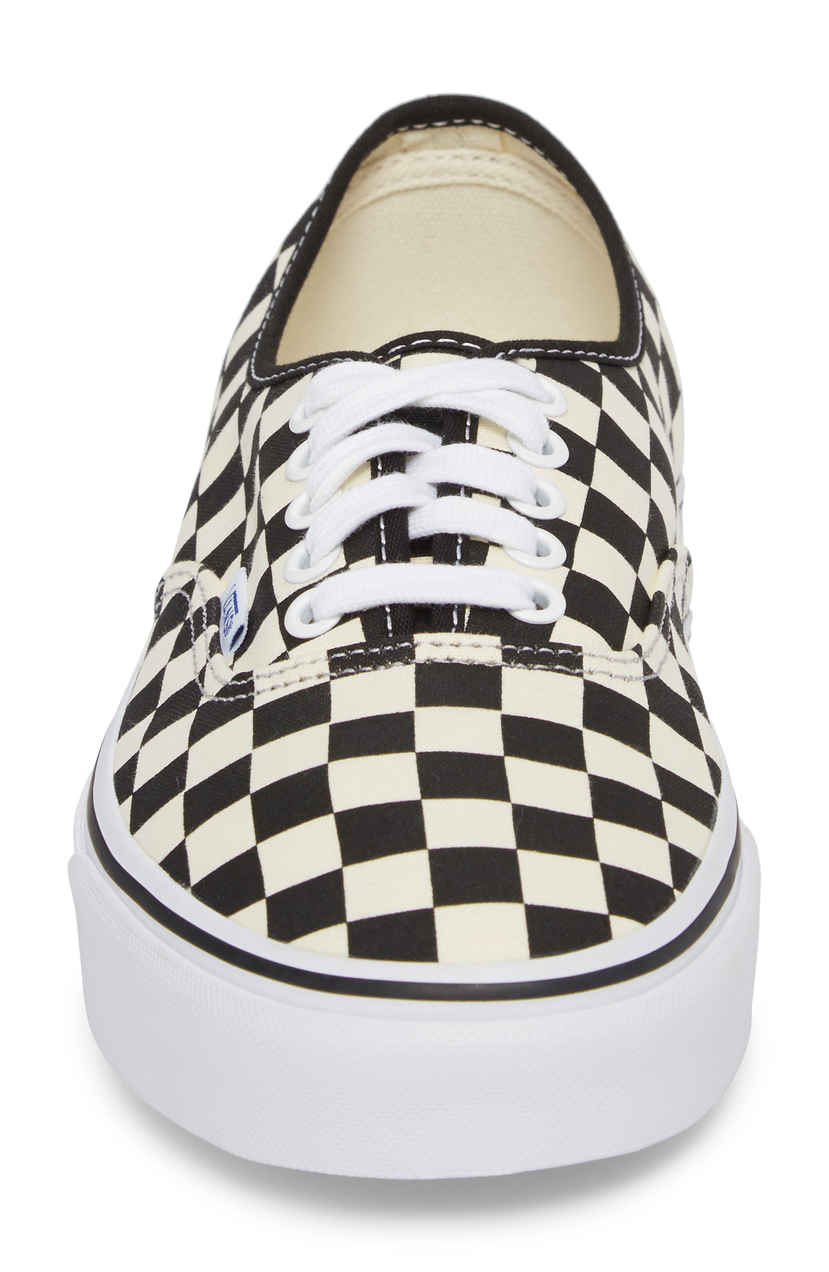 Authentic Golden Coast Sneaker,                             Alternate thumbnail 4, color,                             Black/ White Checker