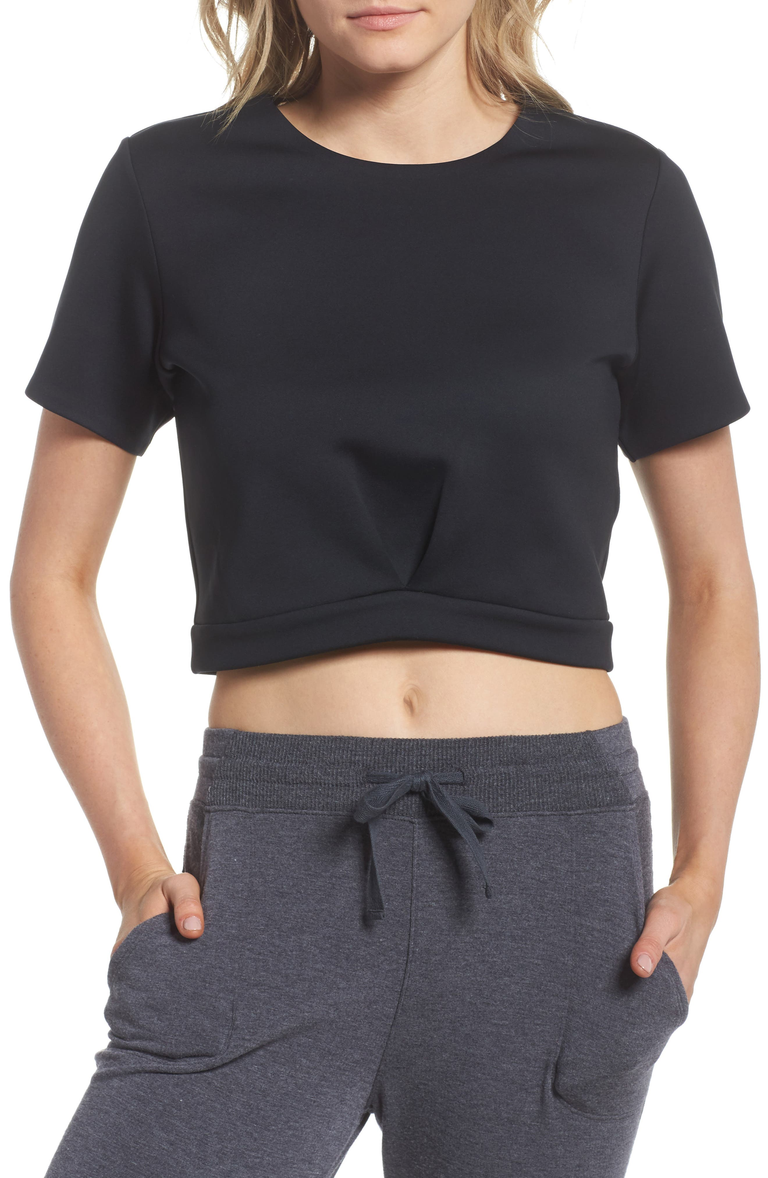 Any Day Crop Top,                         Main,                         color, Black