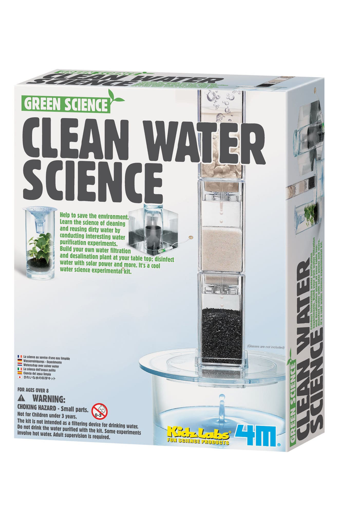 Clean Water Science Lab Kit,                             Main thumbnail 1, color,                             Multi