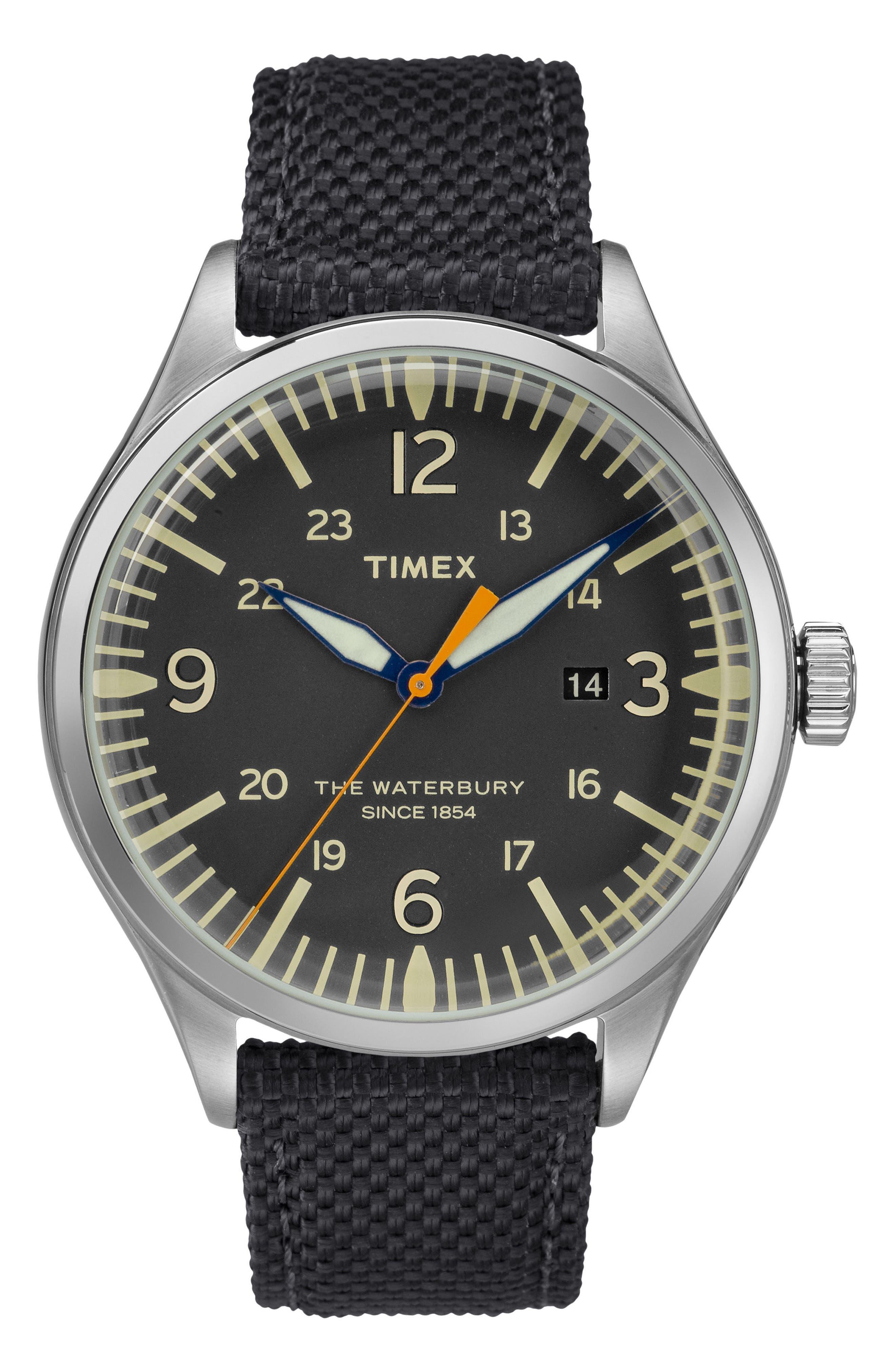 Timex® Waterbury Canvas Strap Watch, 40mm