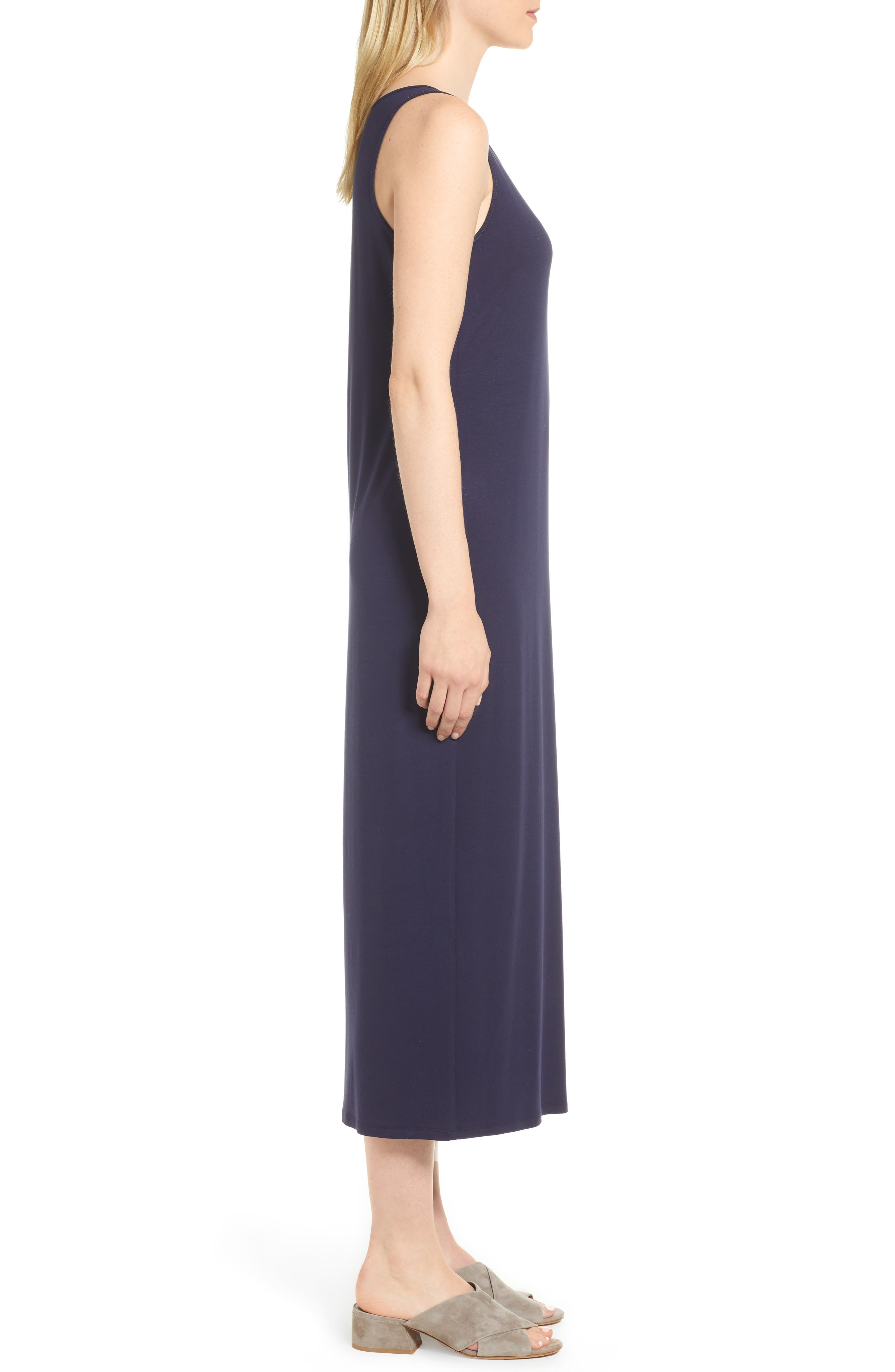Midi Tank Dress,                             Alternate thumbnail 3, color,                             Midnight