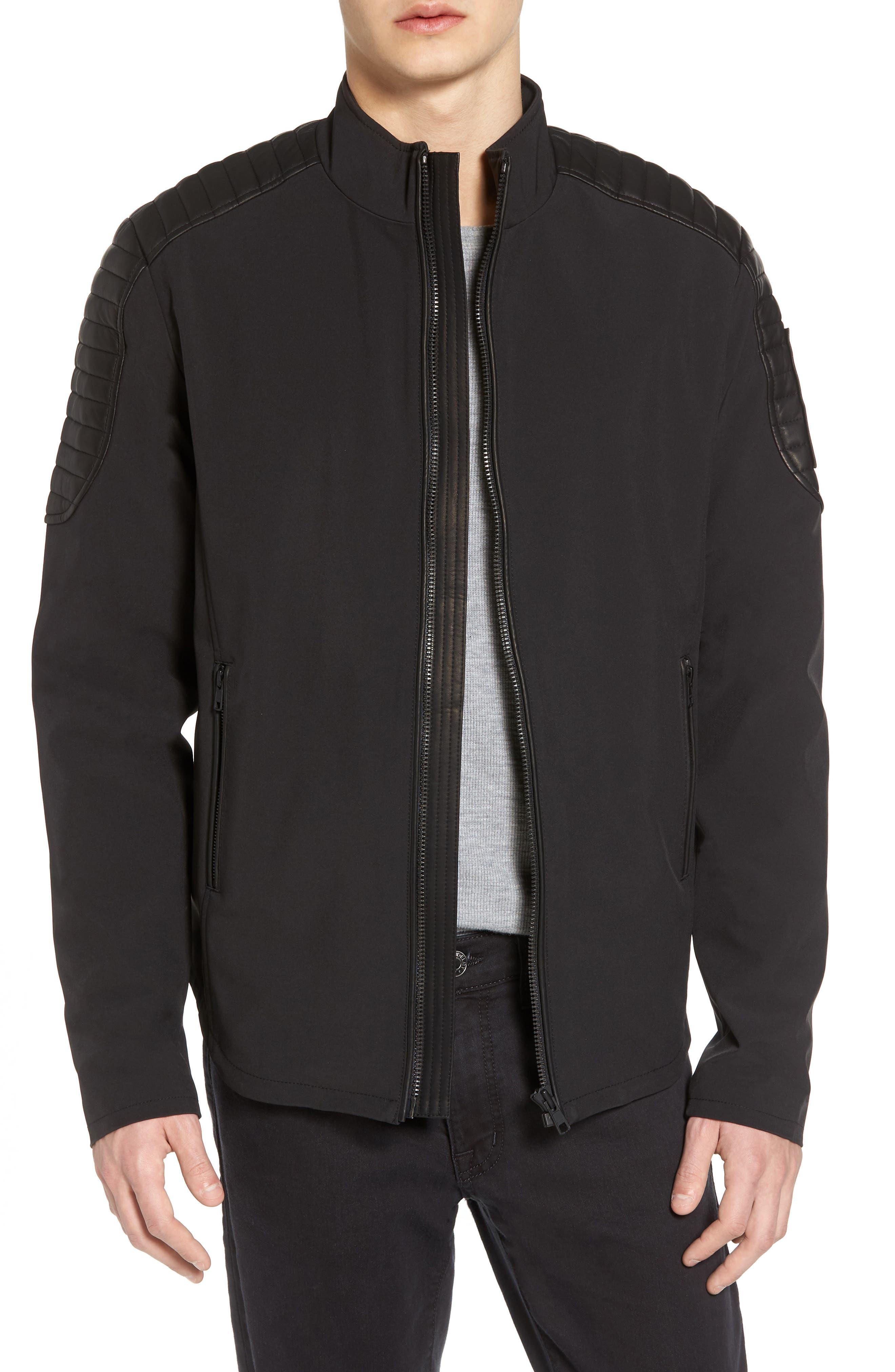 Grindstone Water Repellent Jacket,                             Main thumbnail 1, color,                             Black