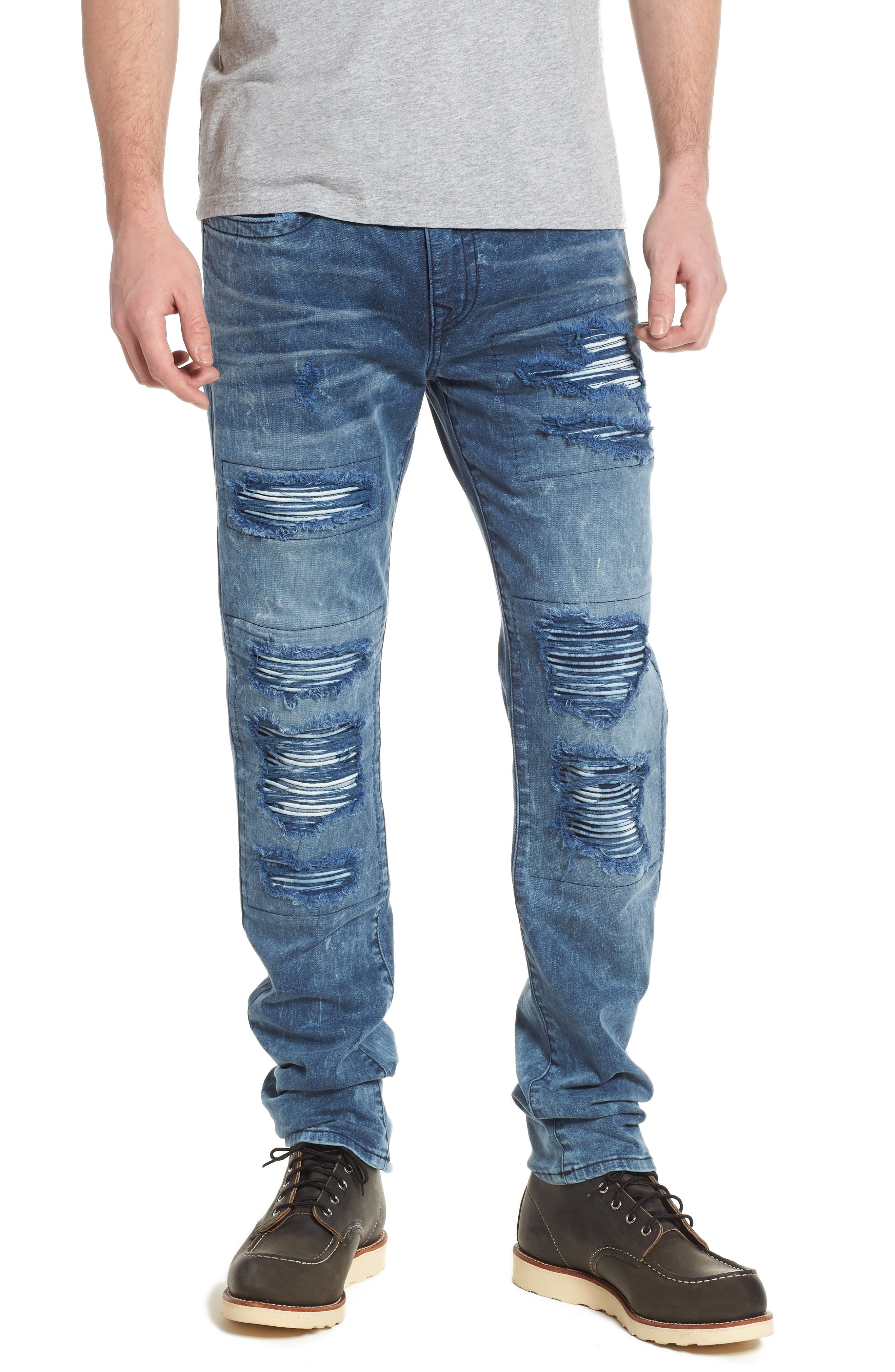 Rocco Skinny Fit Jeans,                             Main thumbnail 1, color,                             Blue