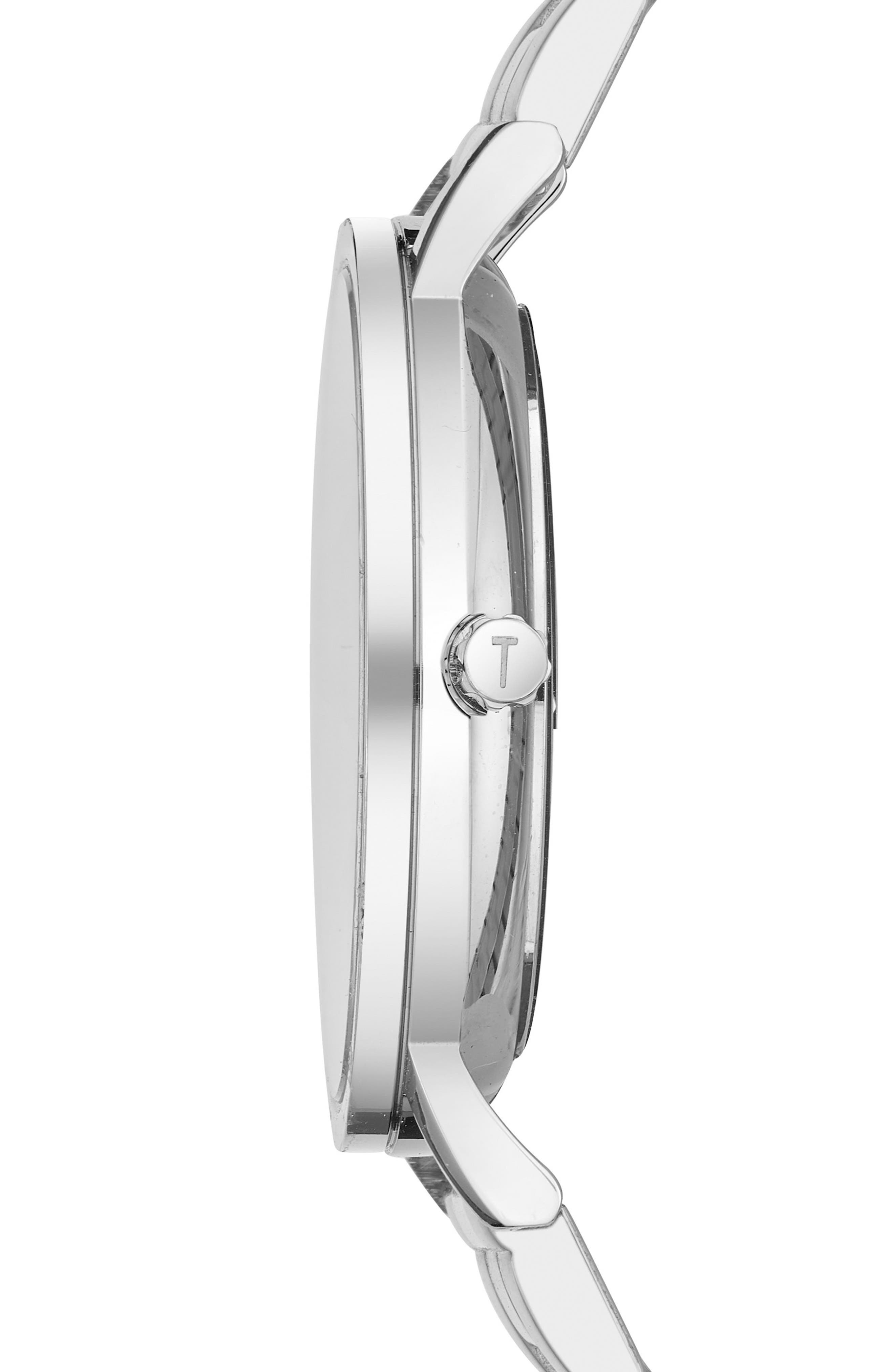 Brit Multifunction Bracelet Watch, 40mm,                             Alternate thumbnail 3, color,                             Silver/ Stainless Steel