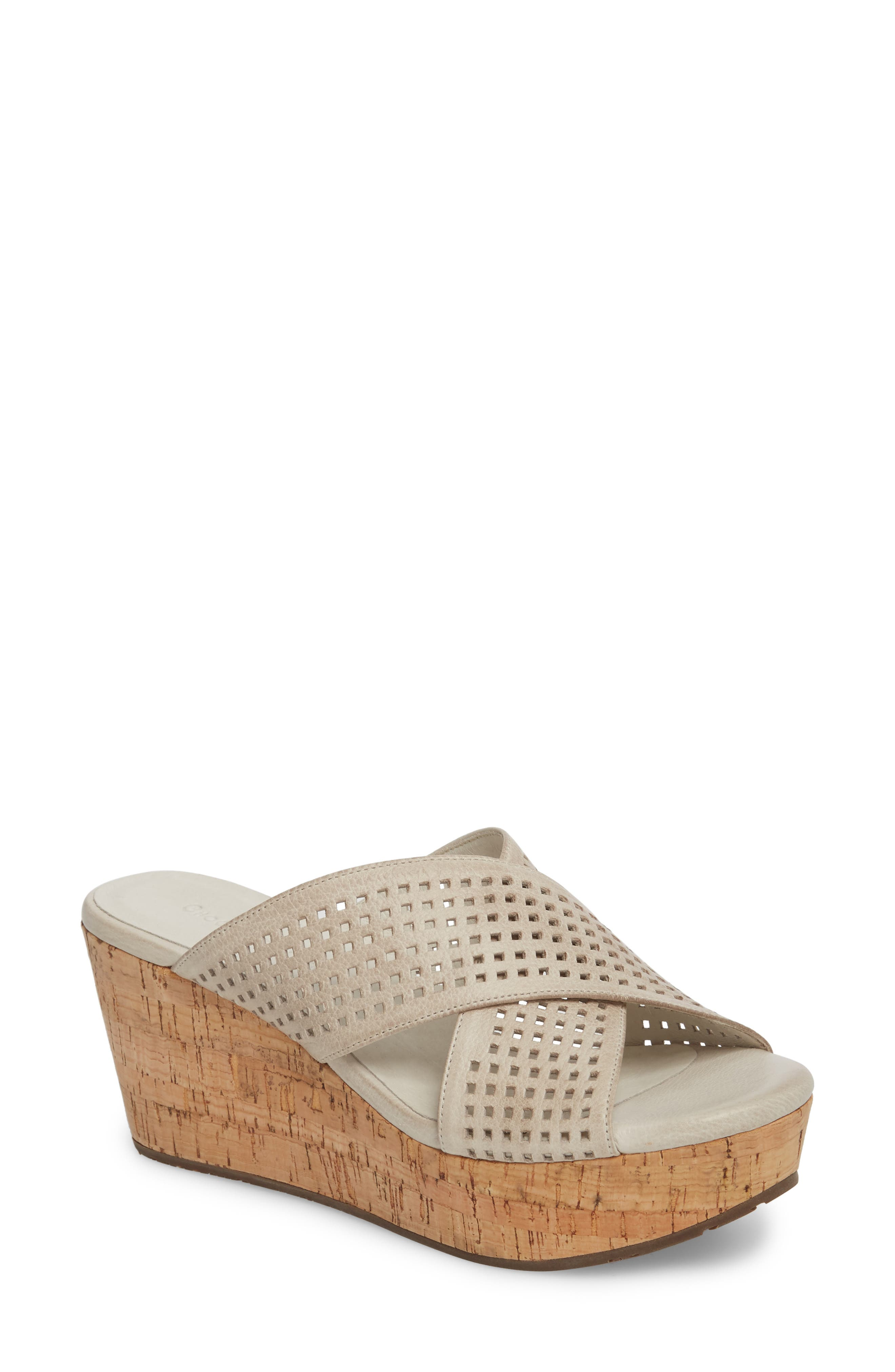 Wamblee Wedge Sandal,                         Main,                         color, Ice Leather