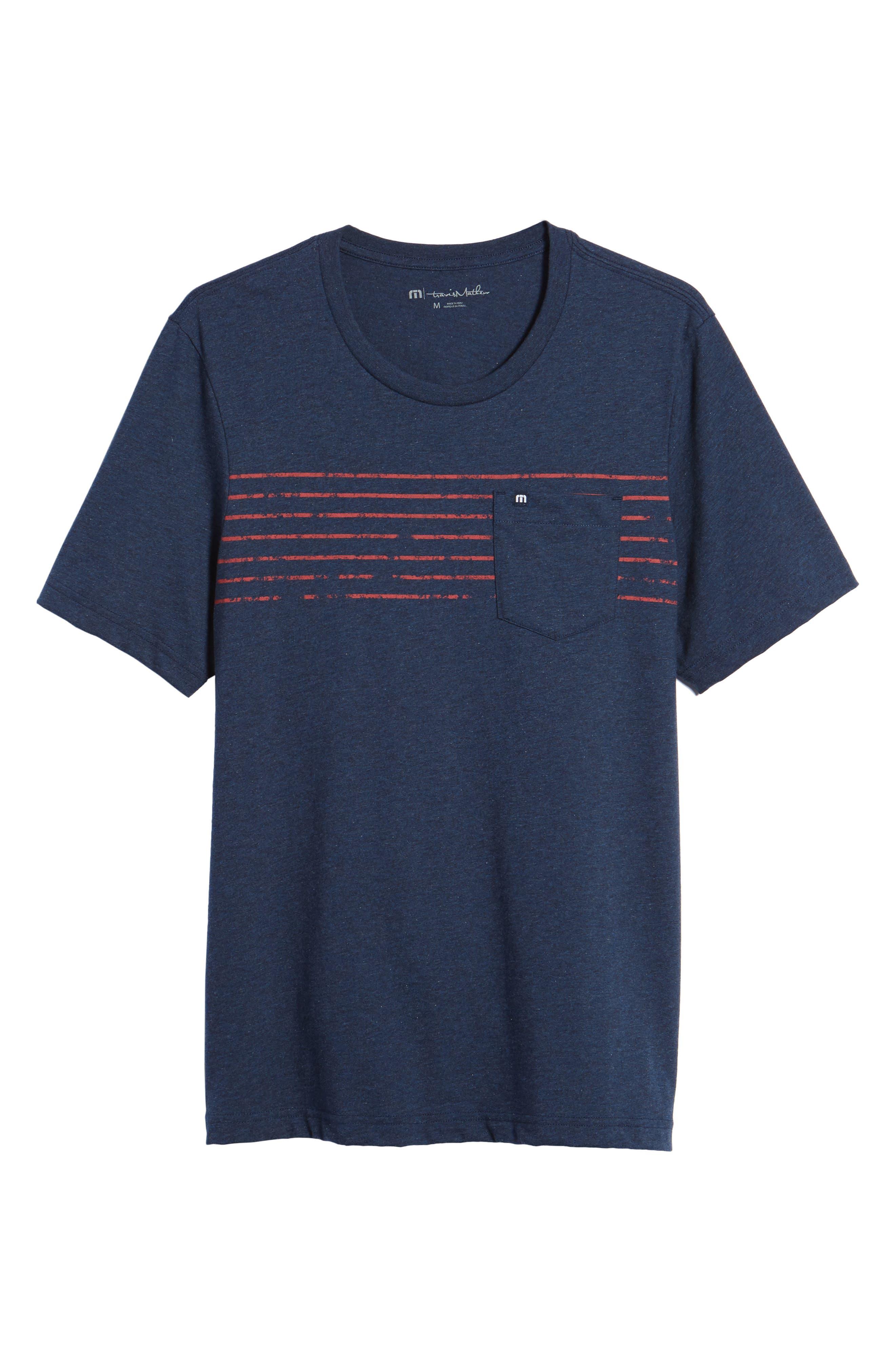 Bogue Pocket T-Shirt,                             Alternate thumbnail 6, color,                             Heather Blue Nights