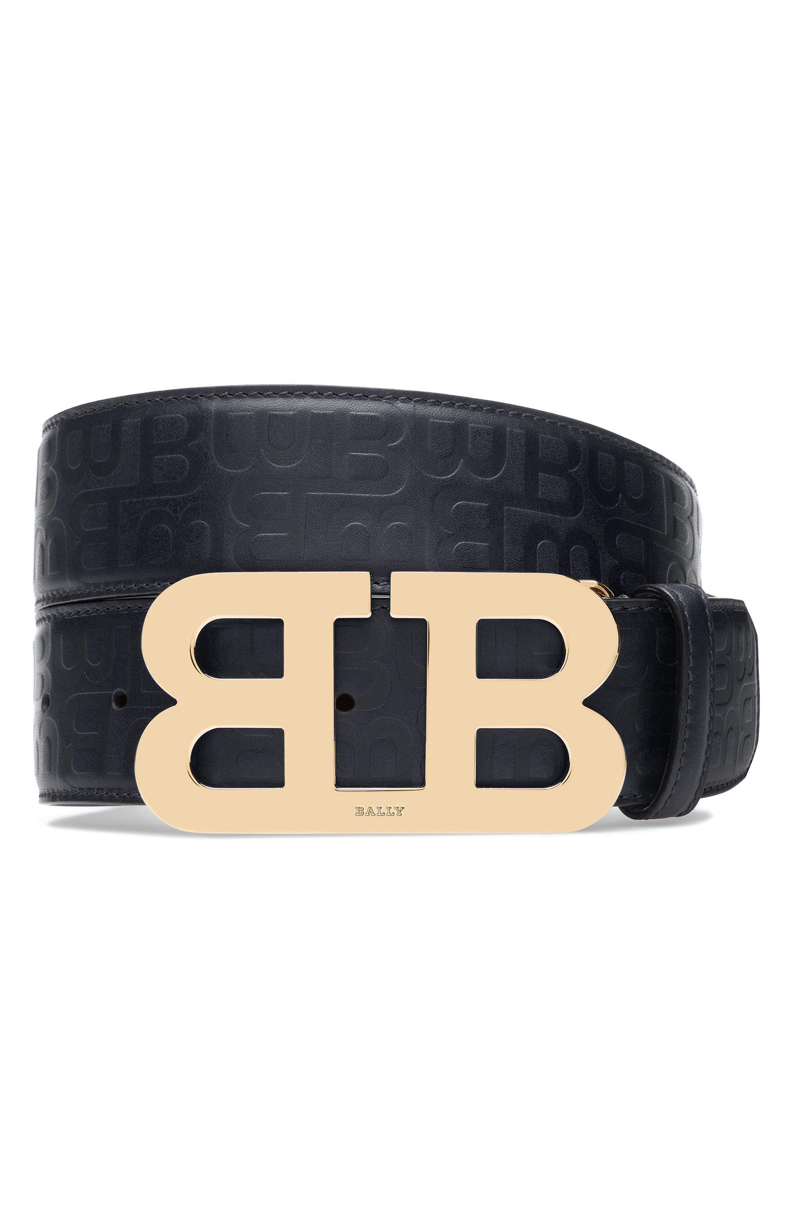 Alternate Image 1 Selected - Bally Stamped Logo Leather Belt