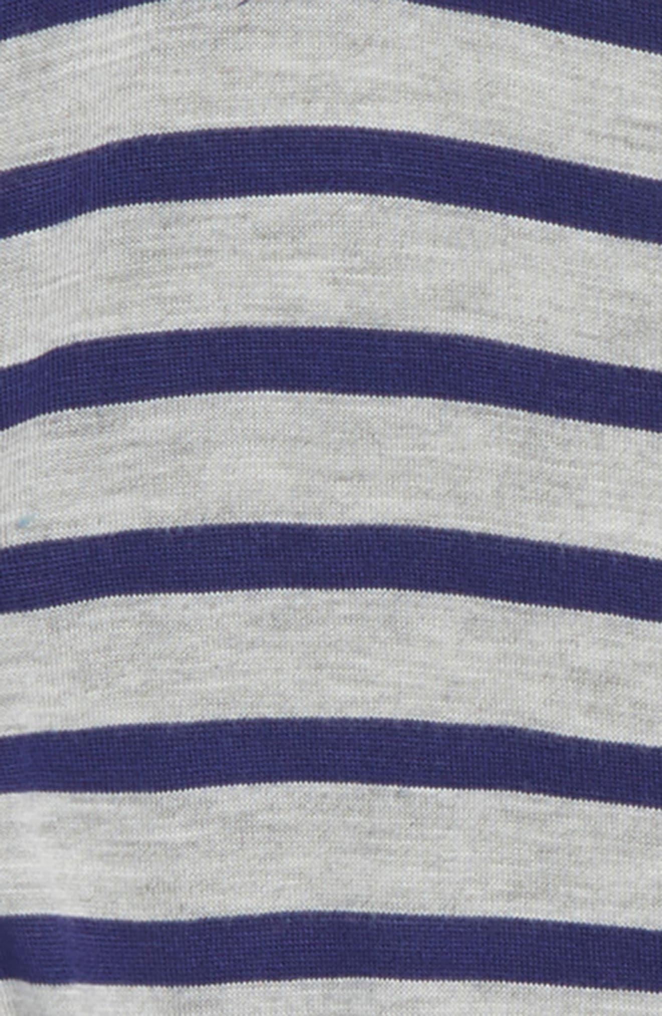 Stripe Knot Tee,                             Alternate thumbnail 2, color,                             Grey Ash Heather- Navy Stripe
