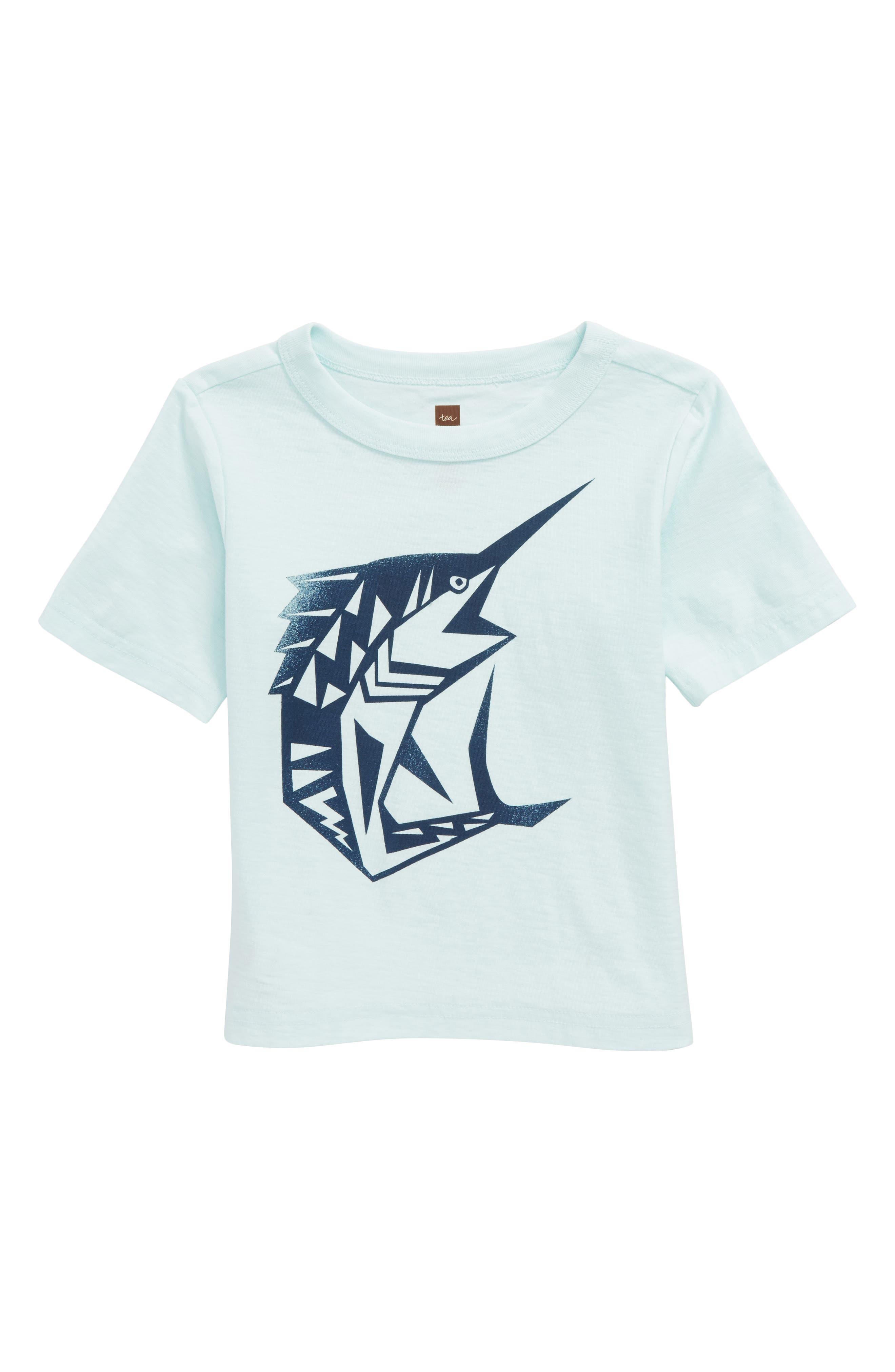 Swordfish T-Shirt,                         Main,                         color, Key Blue