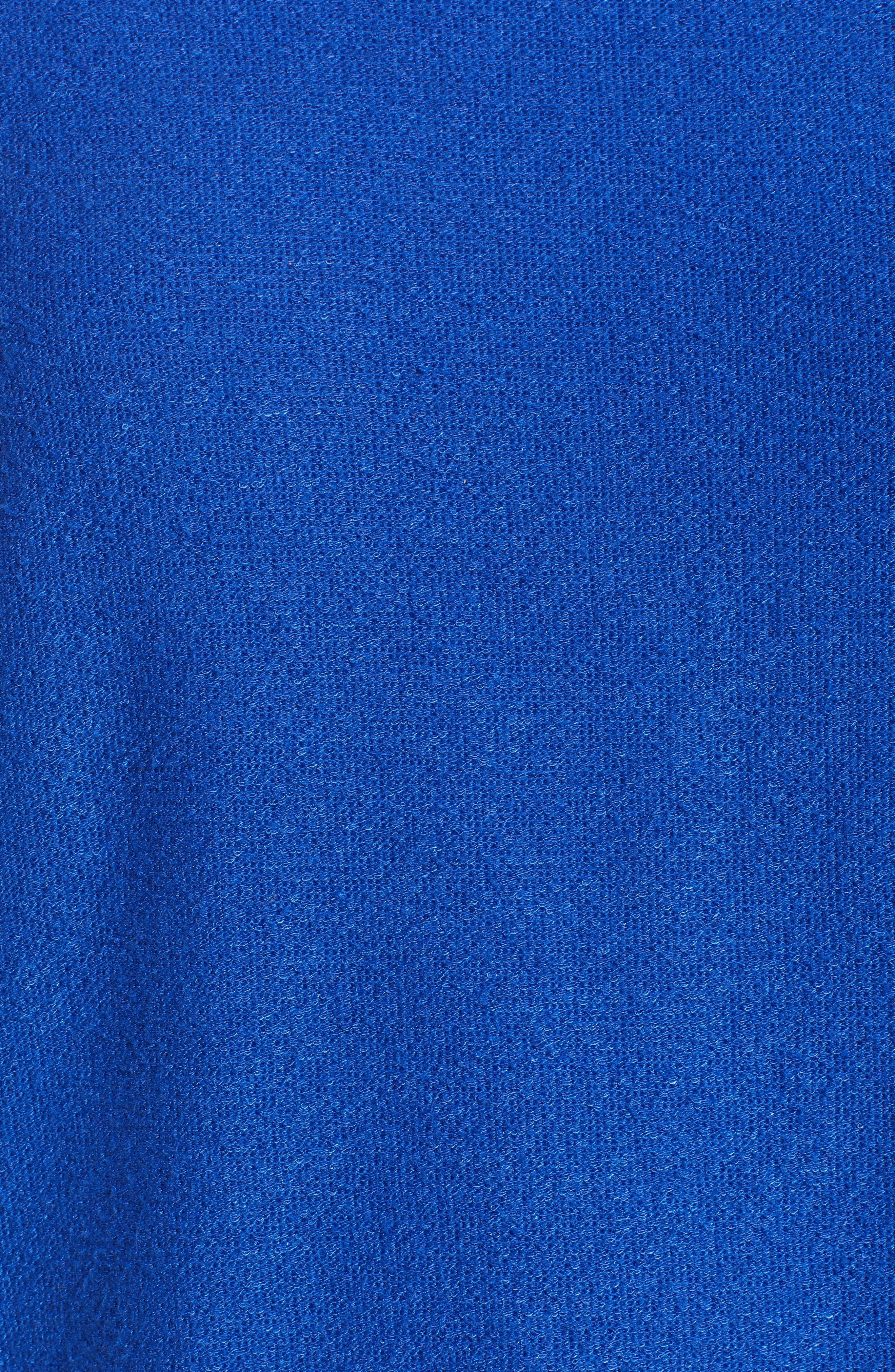 Stripe Split Back Top,                             Alternate thumbnail 6, color,                             Solid Royal Blue