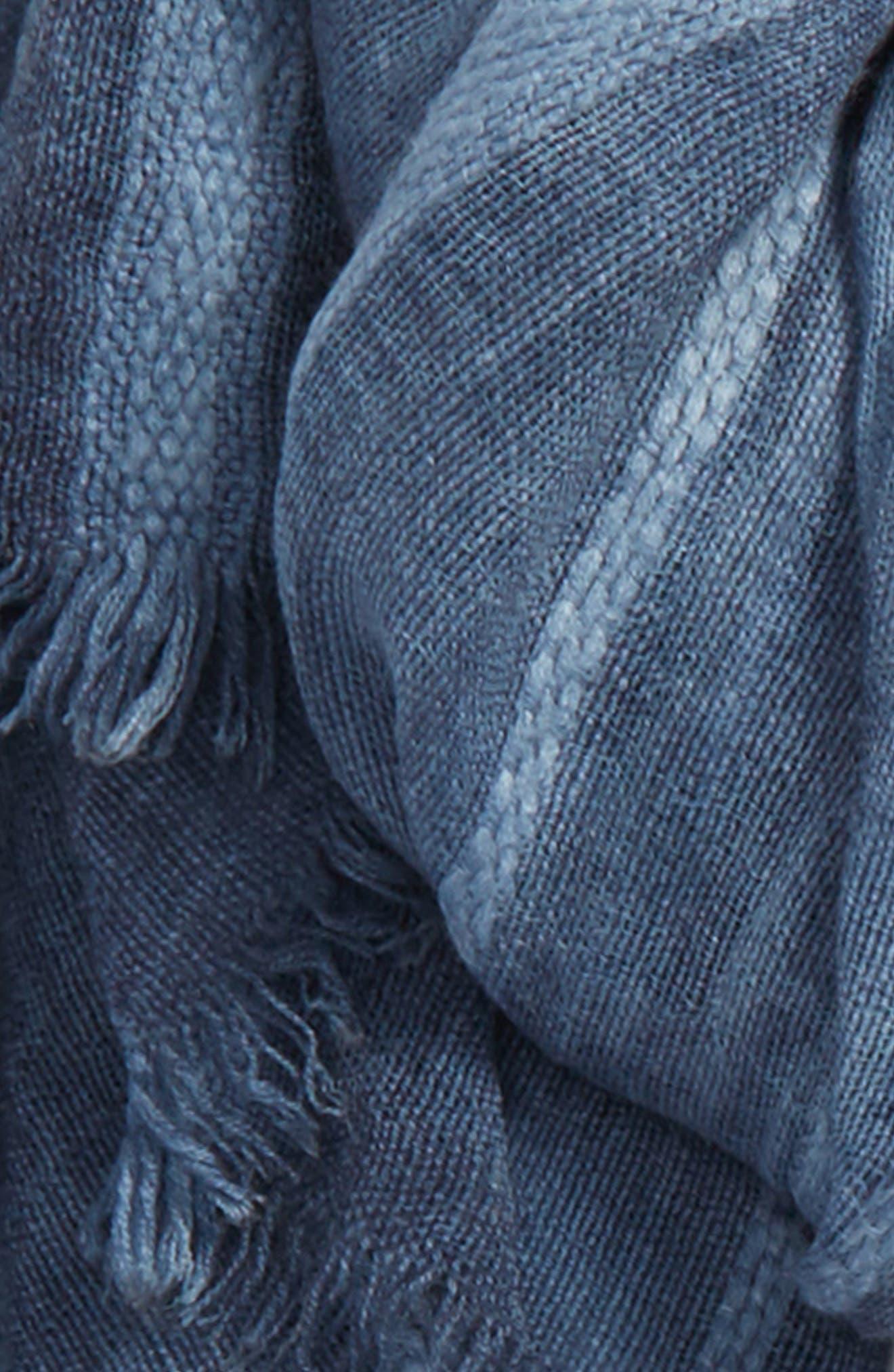 Stripe Textured Wrap,                             Alternate thumbnail 3, color,                             Blue Stonewash