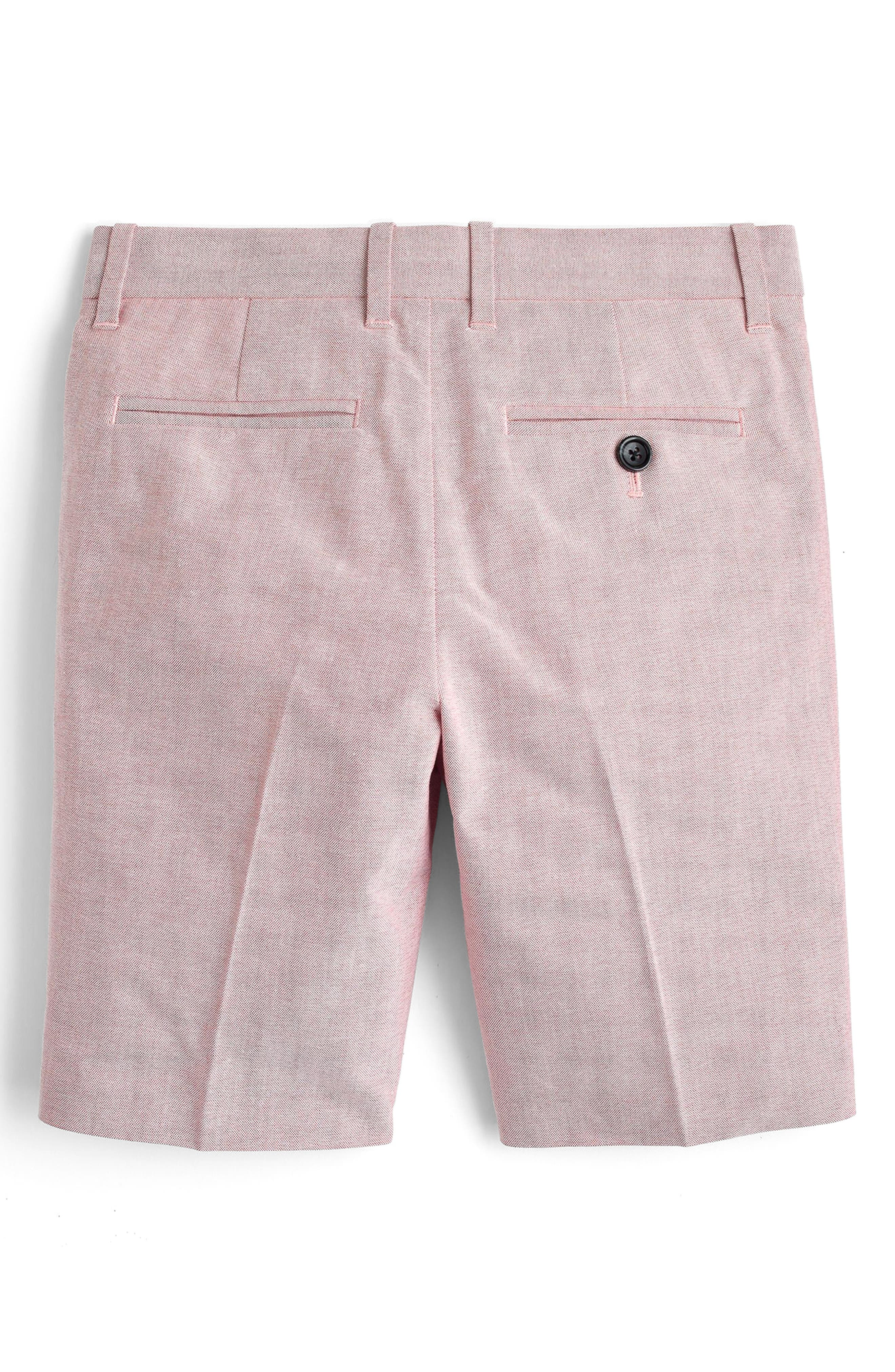 Ludlow Stretch Oxford Suit Shorts,                             Alternate thumbnail 2, color,                             Light Red