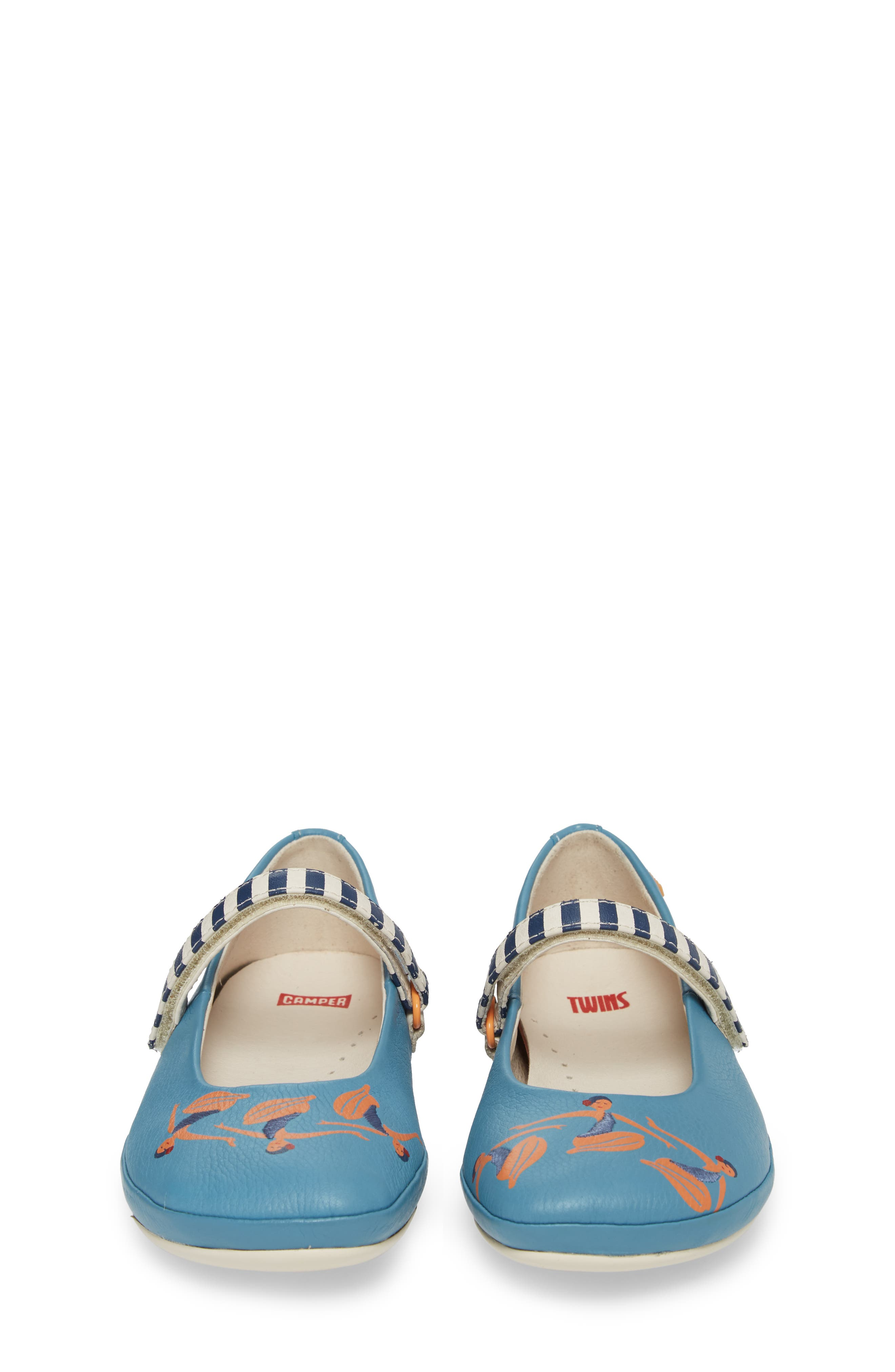 Twins Mary Jane Flat,                             Alternate thumbnail 5, color,                             Blue