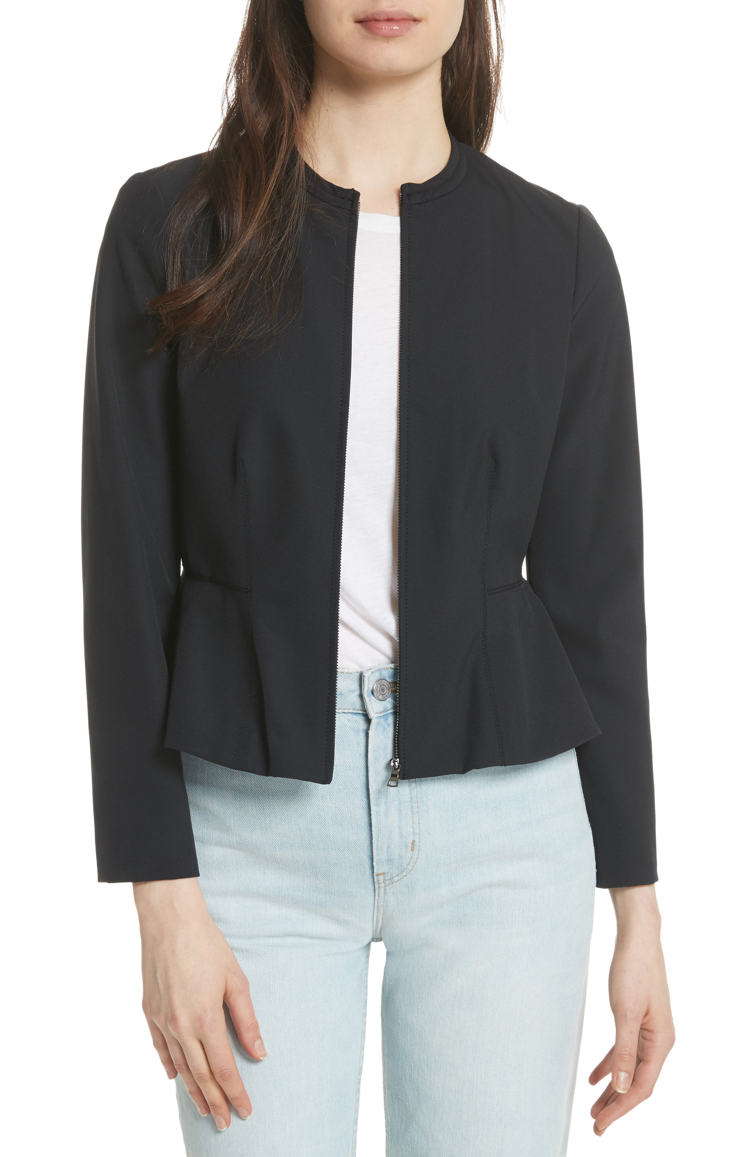 Ava Peplum Jacket,                             Main thumbnail 1, color,                             Black