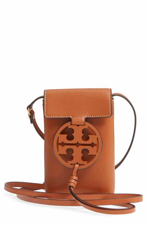 Tory Burch Miller Leather Phone Crossbody Bag b021fccbb4