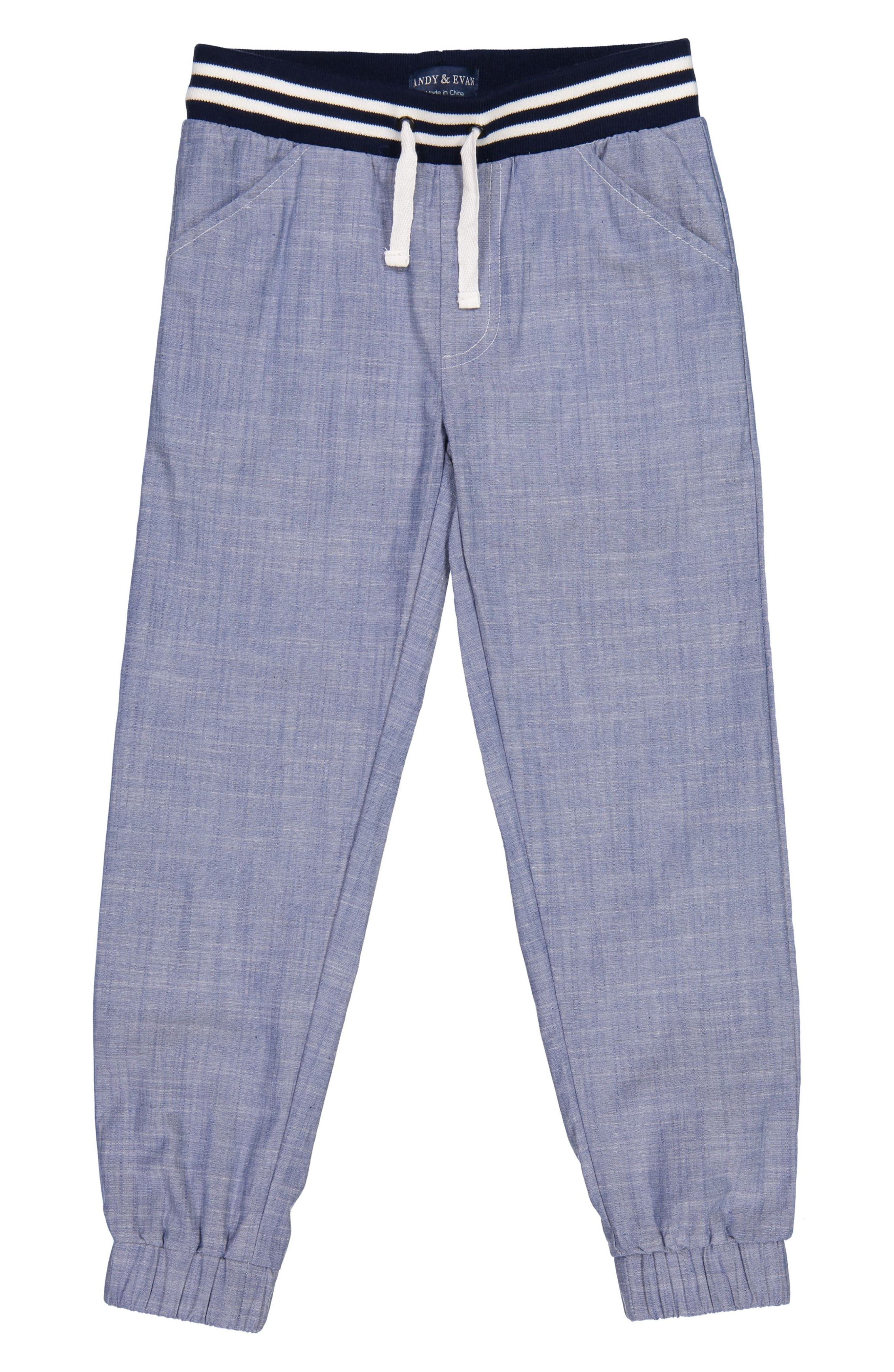 Main Image - Andy & Evan Chambray Jogger Pants (Toddler Boys & Little Boys)